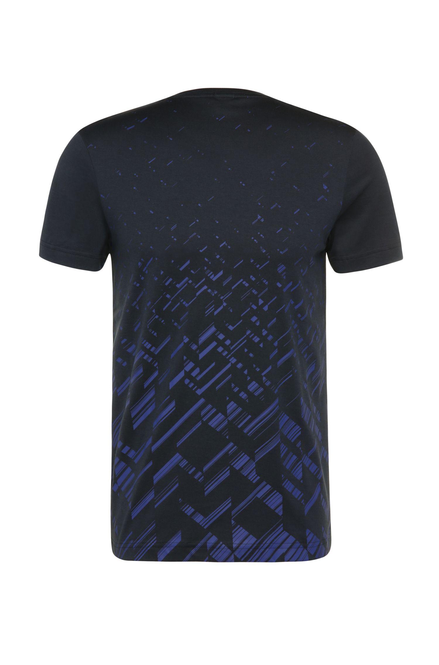 T-shirt Slim Fit à imprimé, en coton mélangé à teneur en lyocell: «Teeocell»