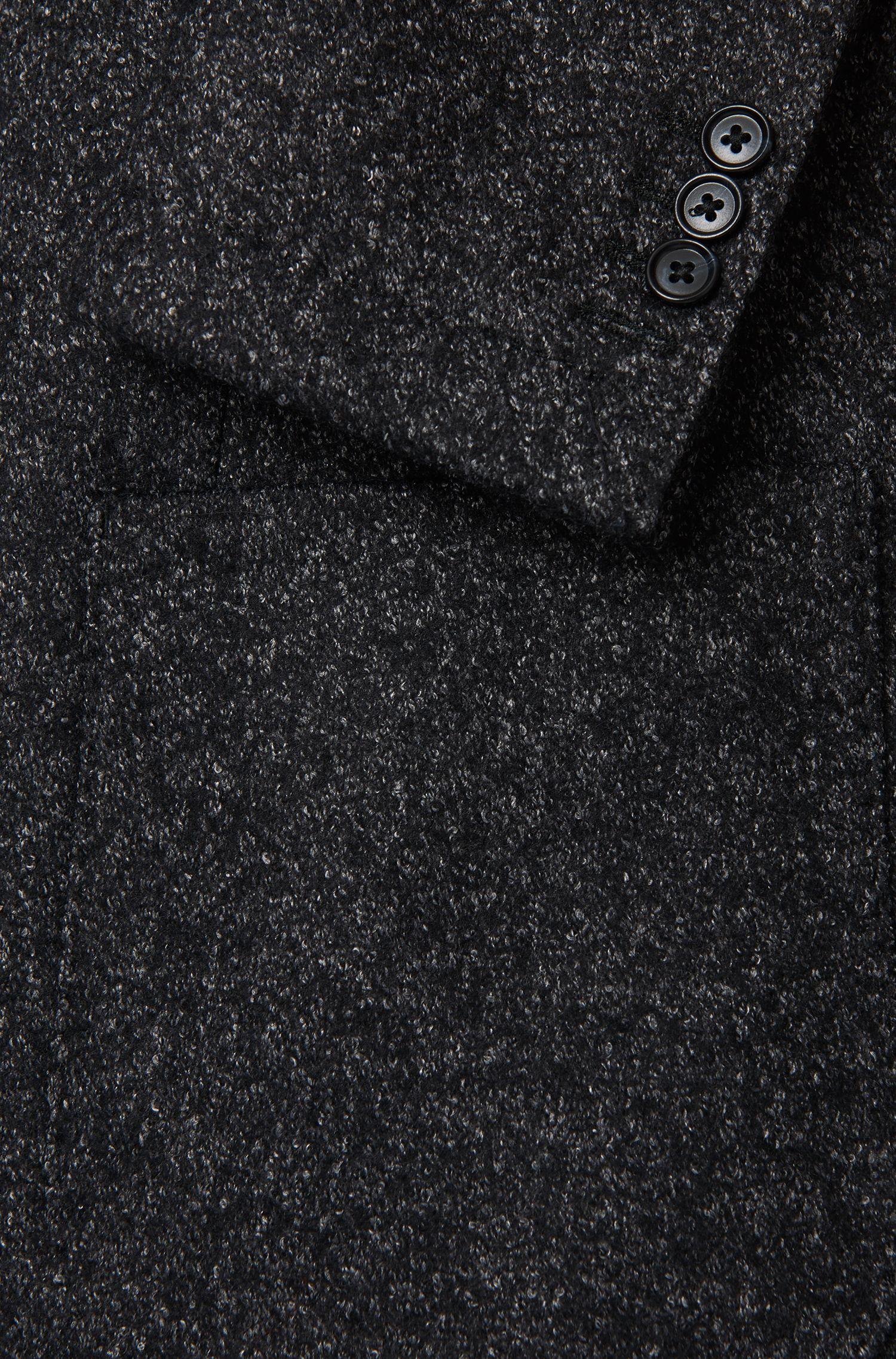 Meliertes Slim-Fit Tailored Sakko aus Schurwoll-Mix: 'T-Narvik-W'