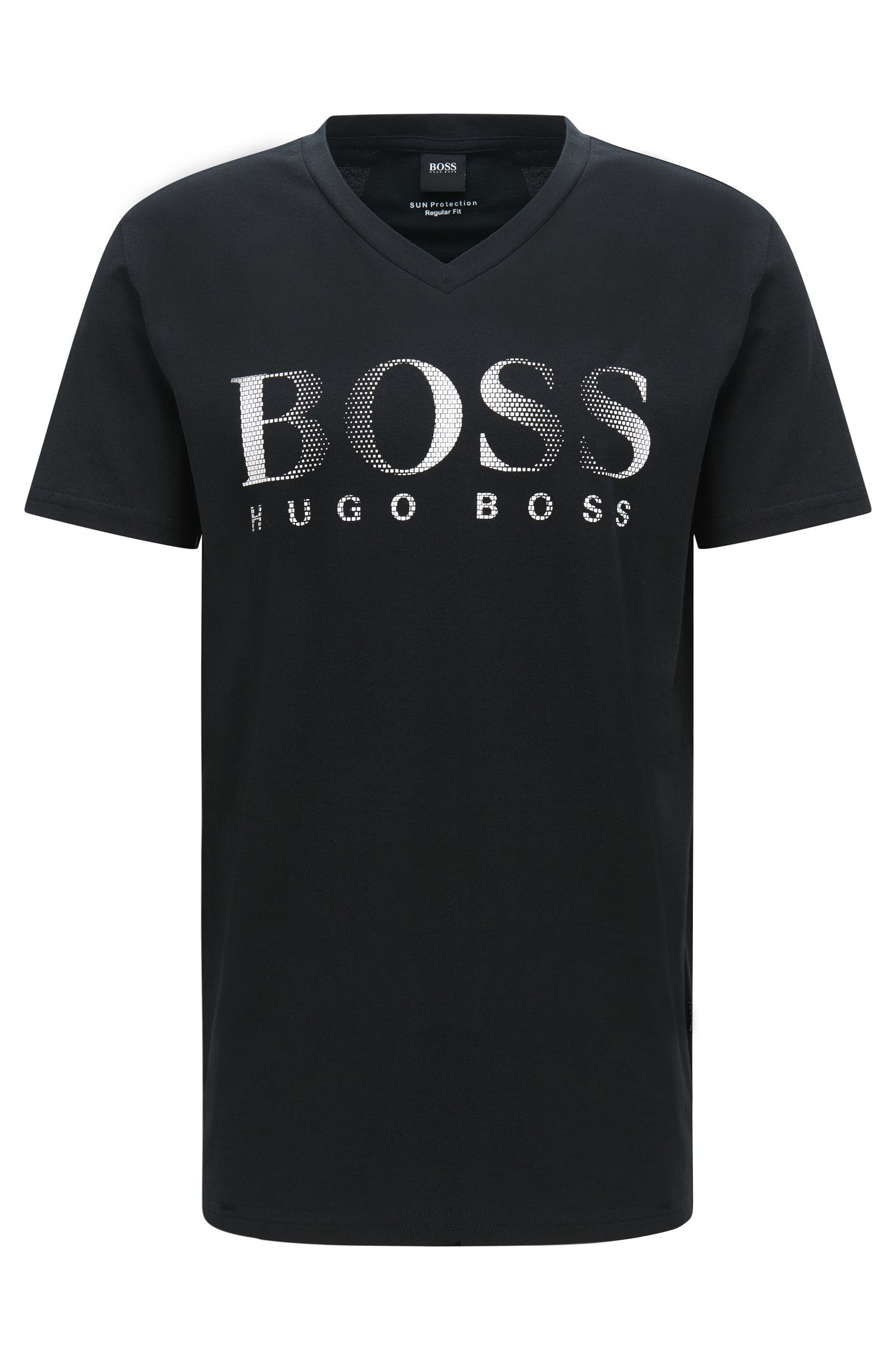 T-shirt Regular Fit en coton avec protection anti-UV: «T-Shirt VN UV-Protection»