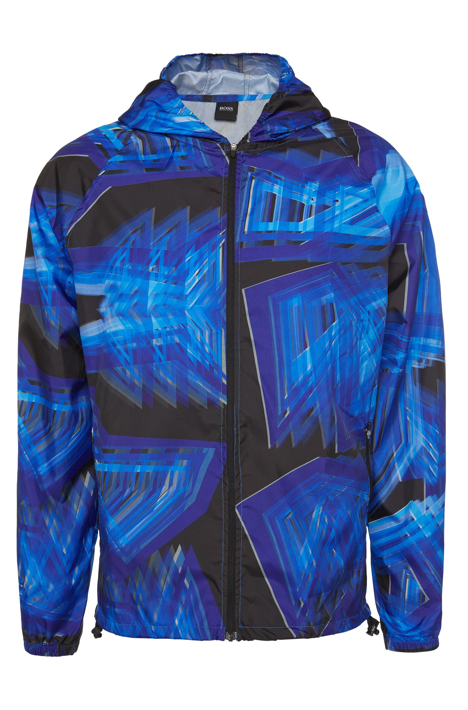 Blouson de plage léger à imprimé graphique all-over : « Jacket Hooded »