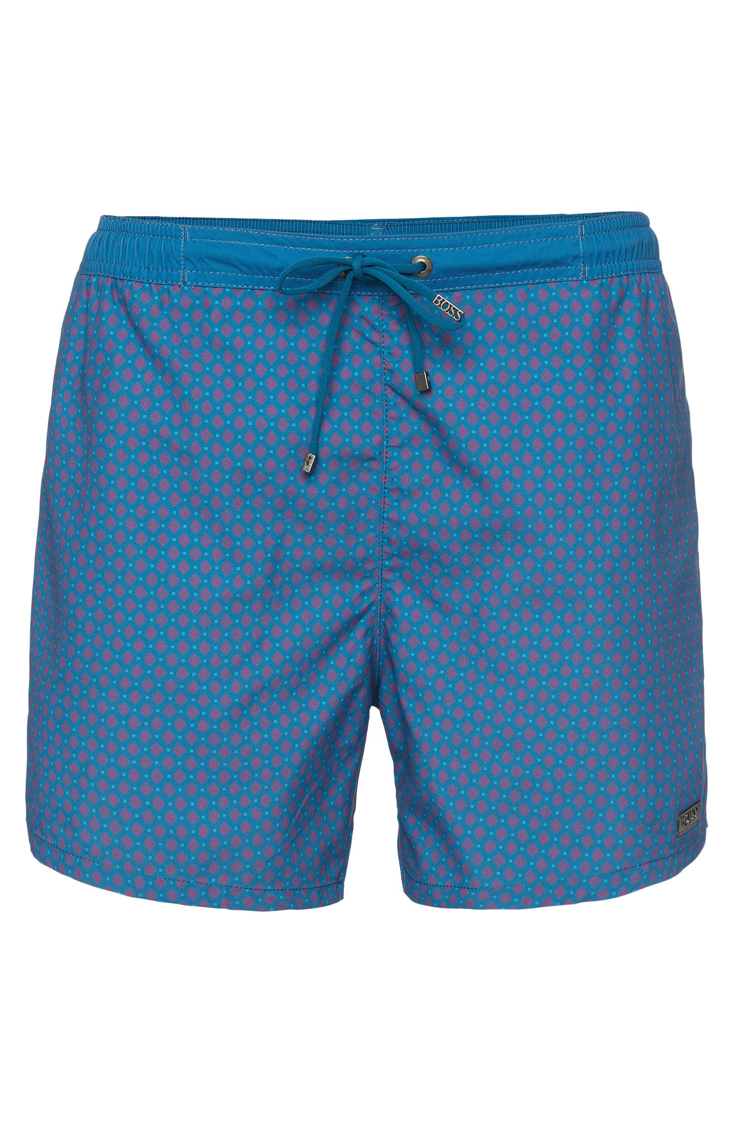 Patterned swim shorts with drawstring waistband: 'Archerfish'