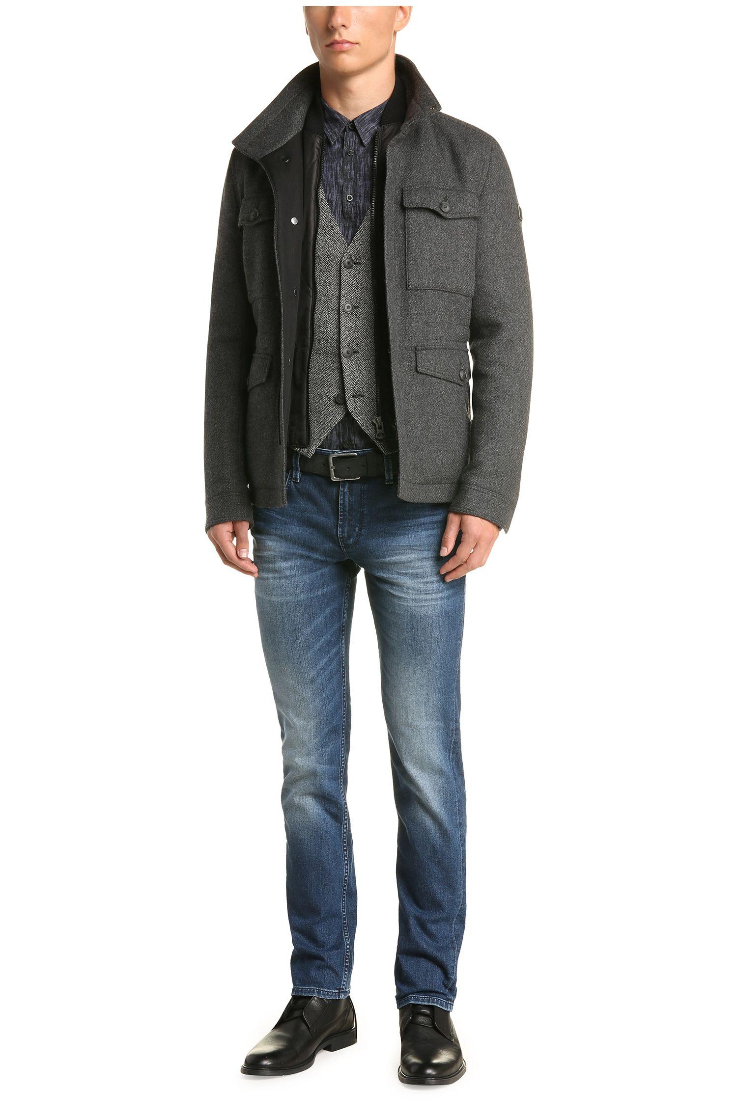 Slim-Fit Jeans aus elastischem Baumwoll-Mix mit Waschungseffekten: ´Orange63`