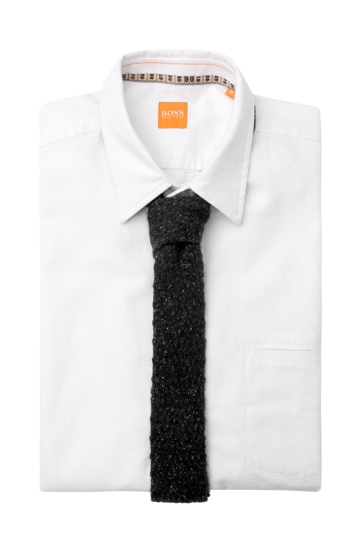 Krawatte aus Woll-Mix mit Seiden-Anteil: ´Tie cm 5.5 knitted`