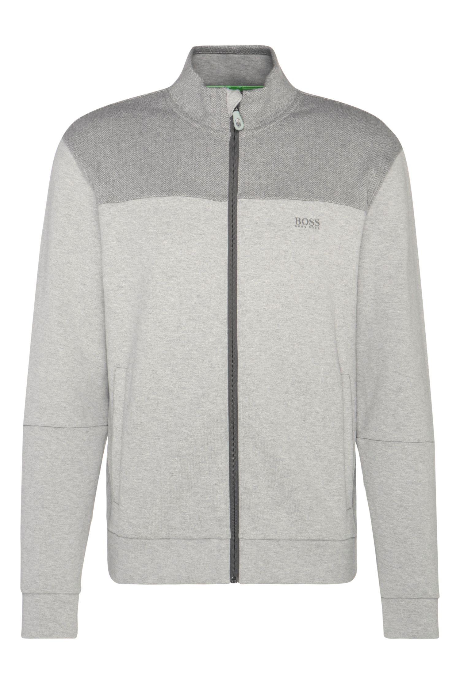 Sweatshirt jacket in cotton blend: 'Selwyn'
