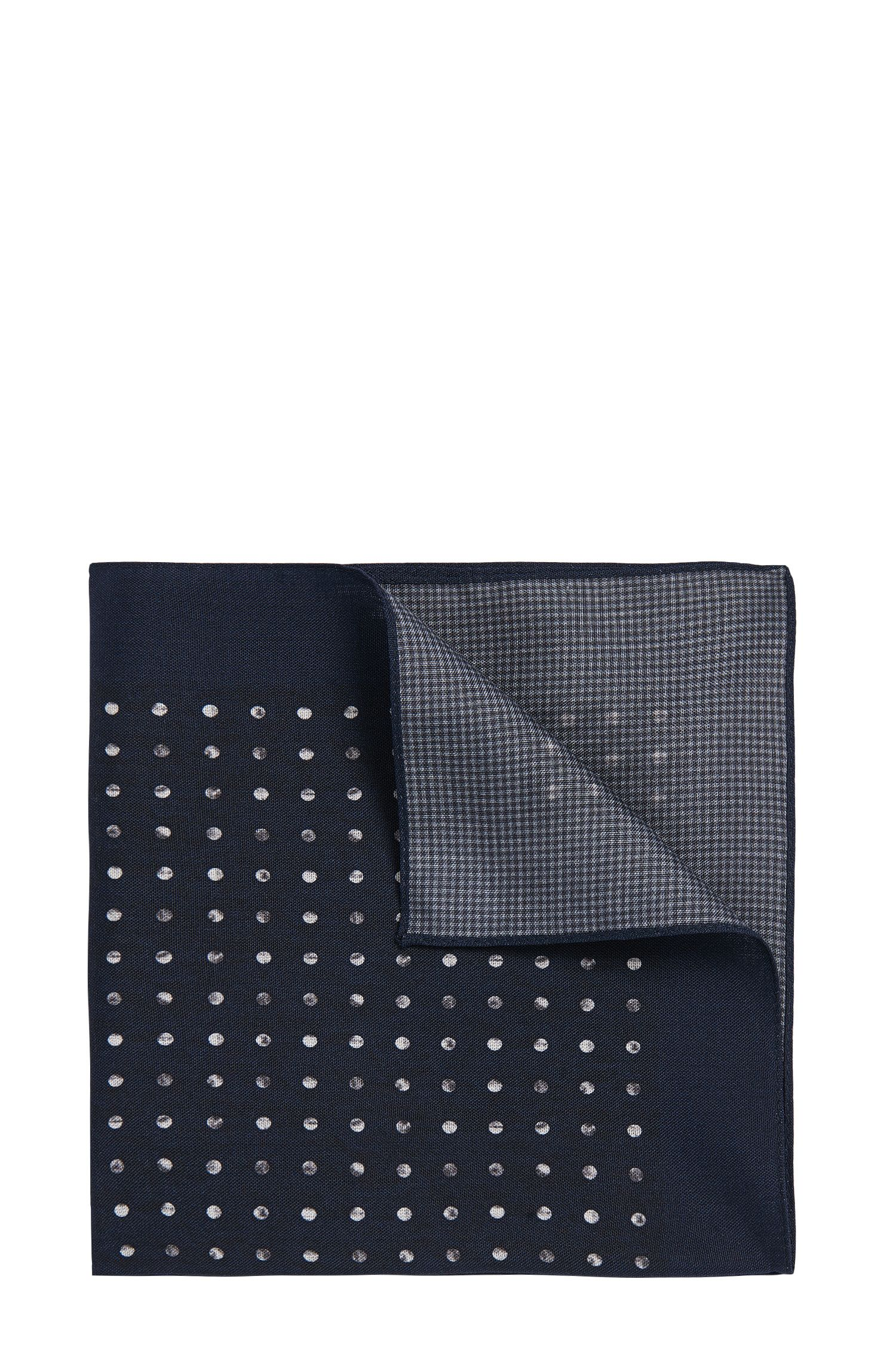 Patterned pocket square in silk: 'Pocket sq. cm 33x33'