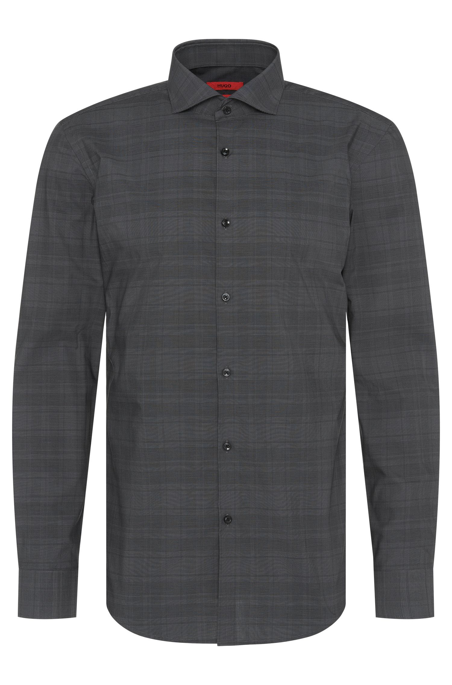 Checked slim-fit shirt in easy-iron cotton: 'C-Jason'
