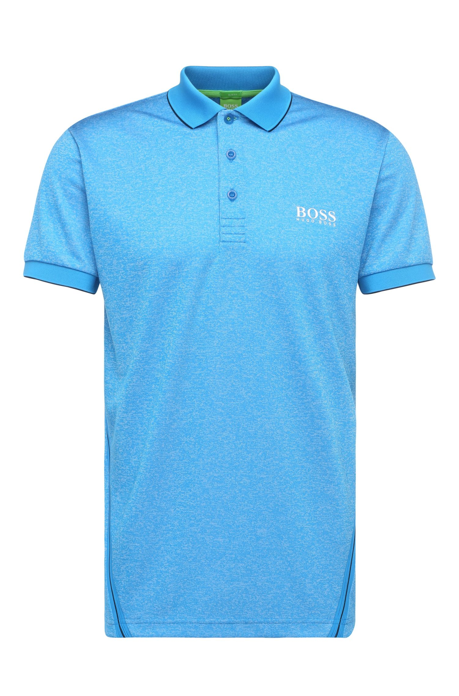 Meliertes Slim-Fit Golf-Polo: ´Paule Pro 3`