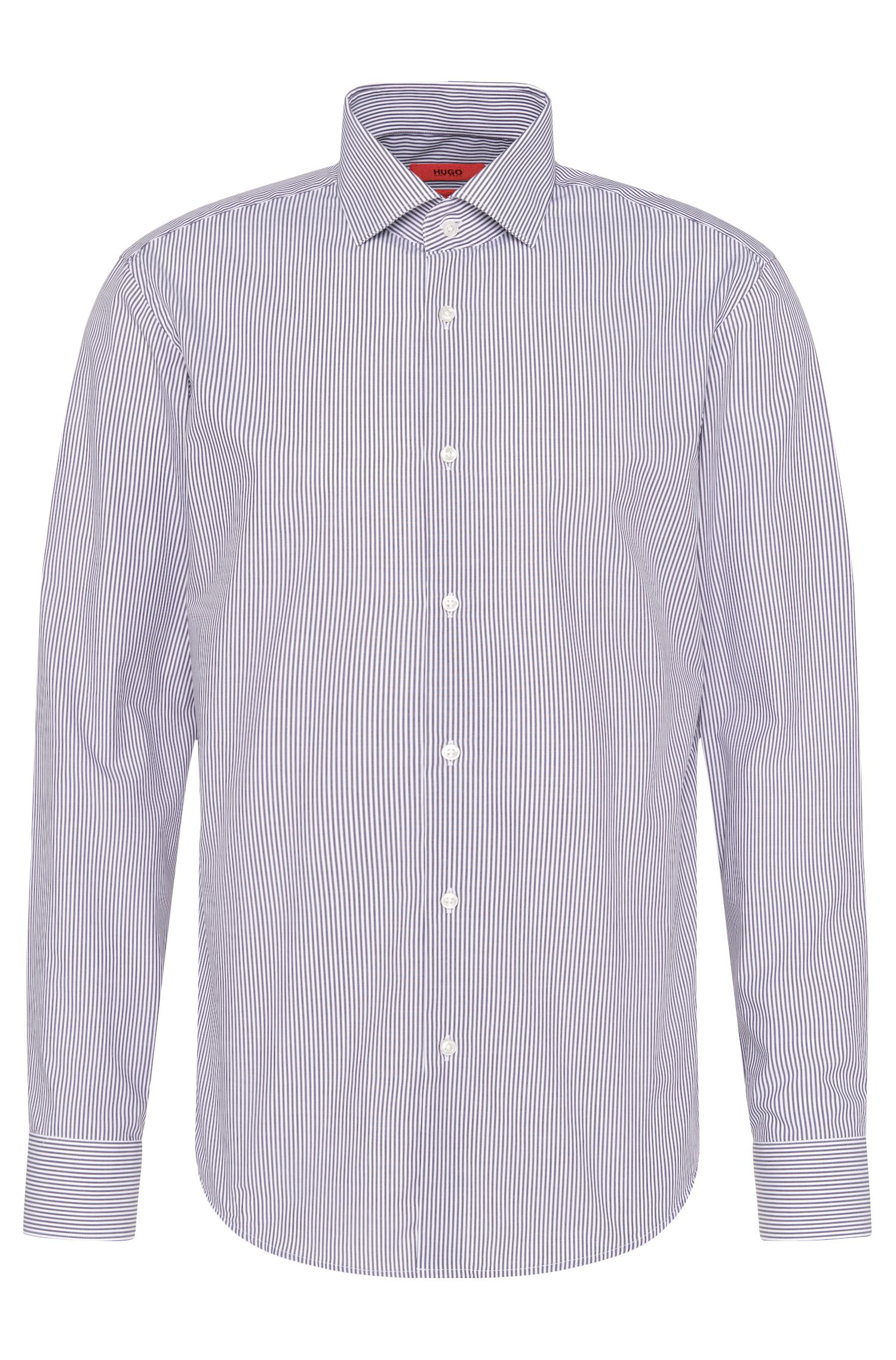 Striped regular-fit shirt in easy-iron cotton: 'C-Gordon'