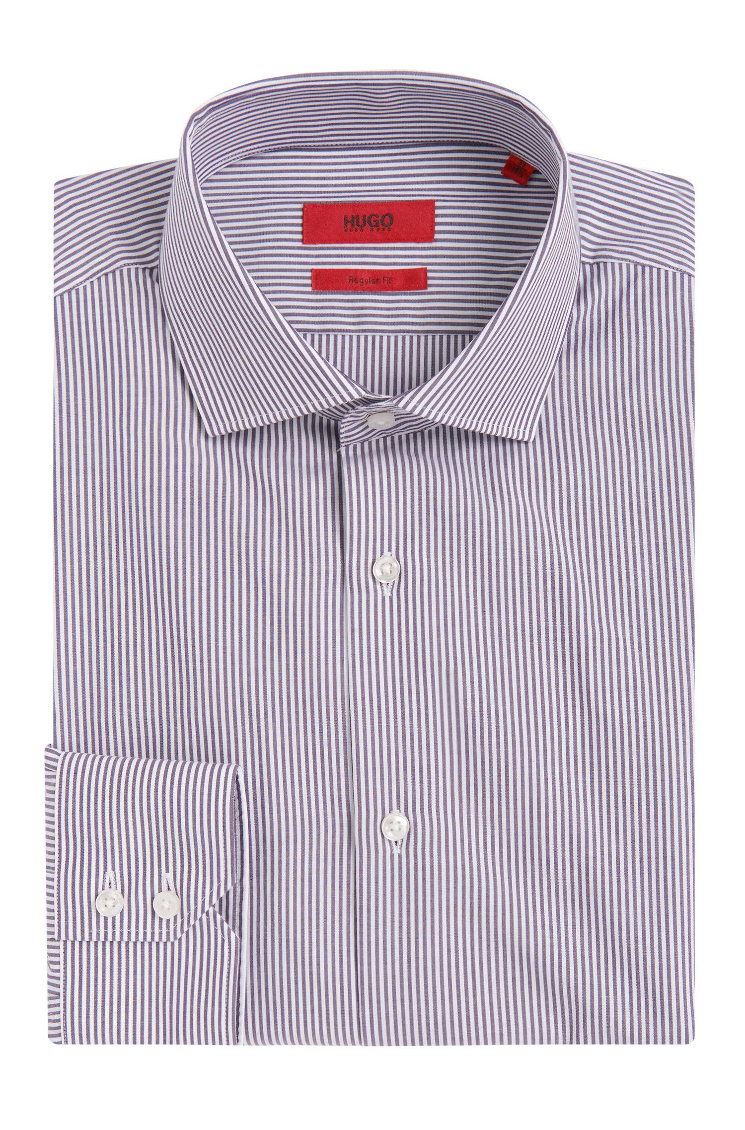 Gestreept, regular-fit overhemd van gemakkelijk te strijken katoen: 'C-Gordon'