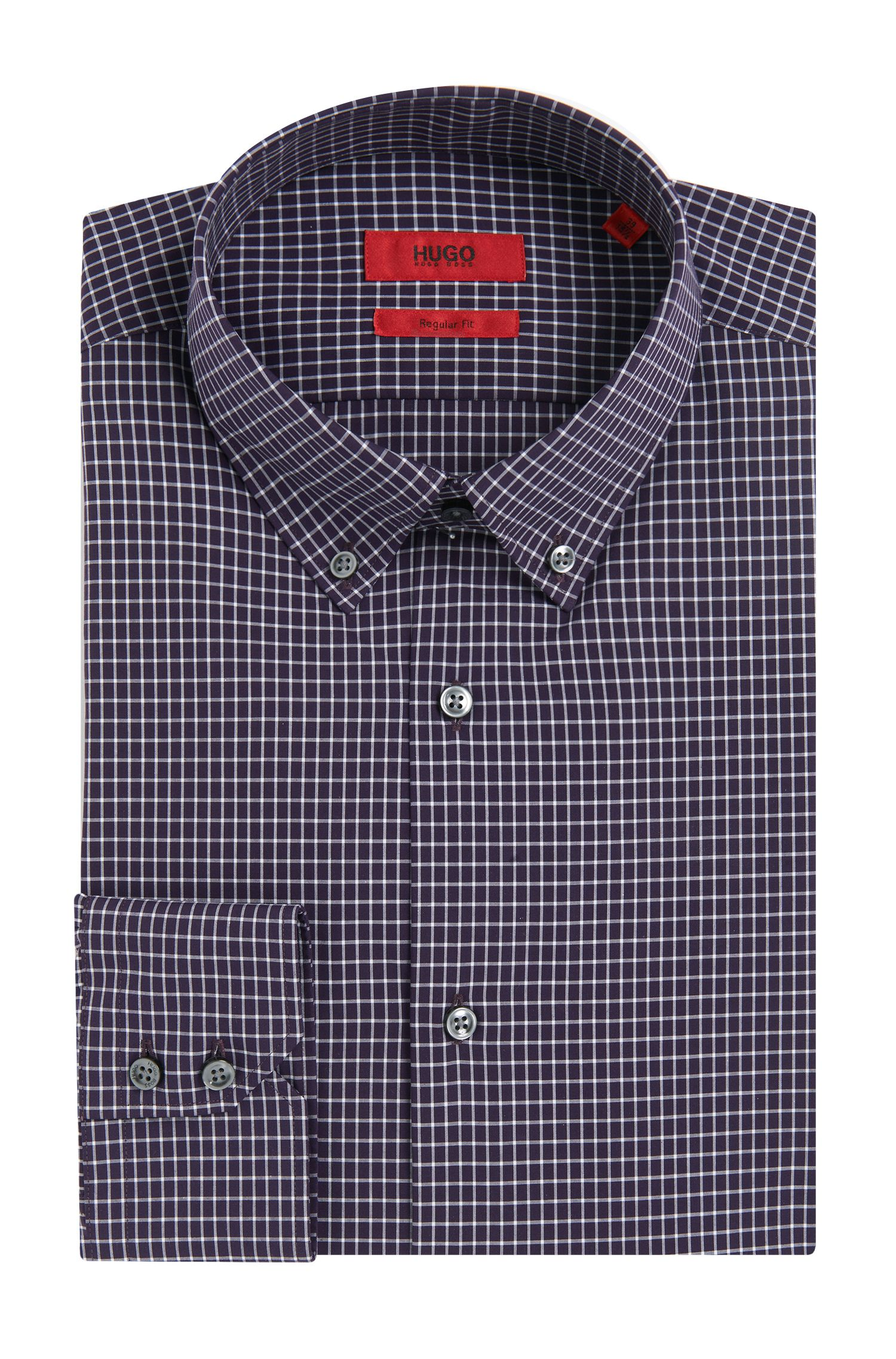 Chemise Regular Fit à carreaux en coton facile à repasser: «C-Gerd»