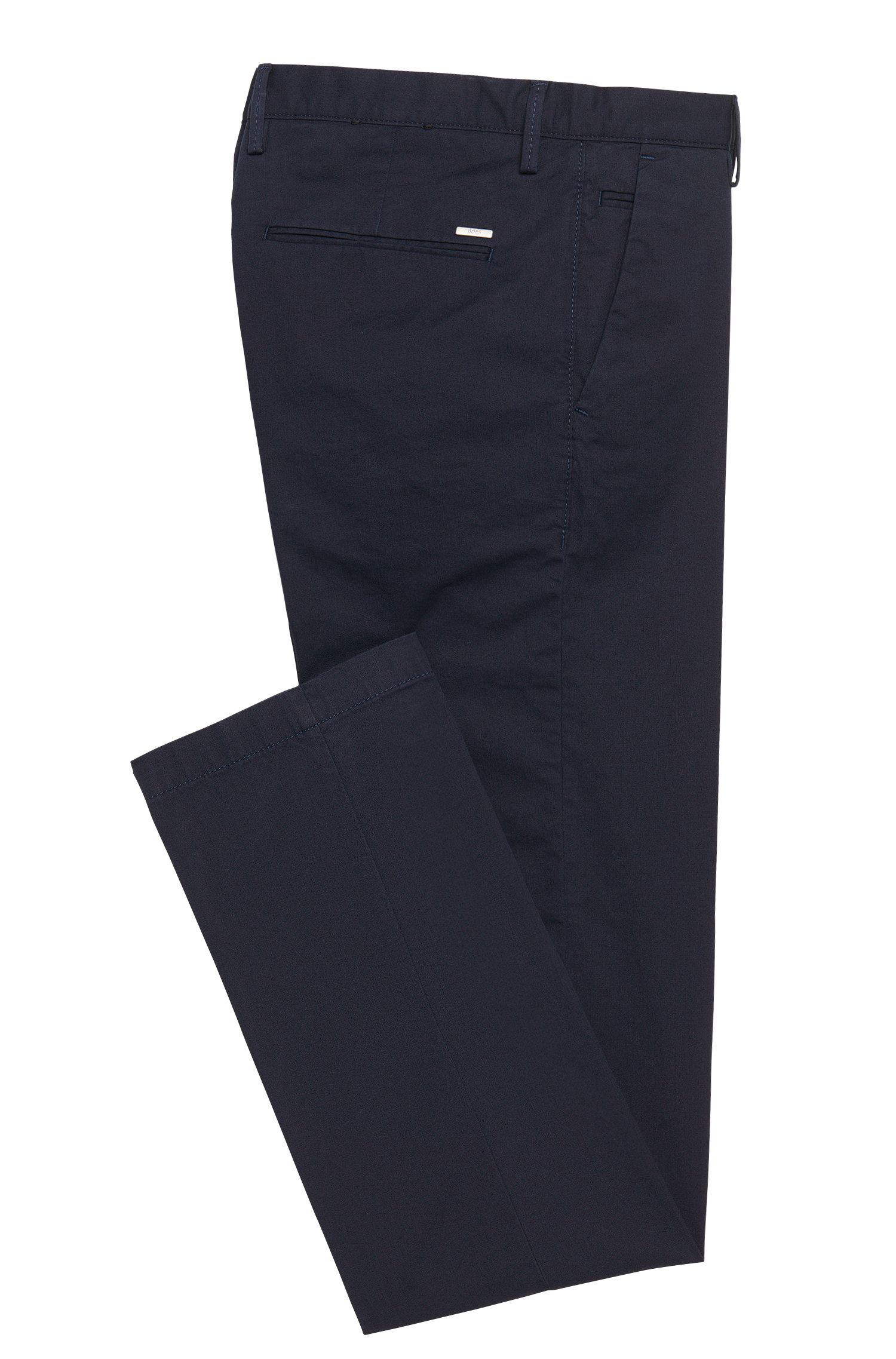 Slim-fit chino van stretchkatoen: 'Rice3-1-W'