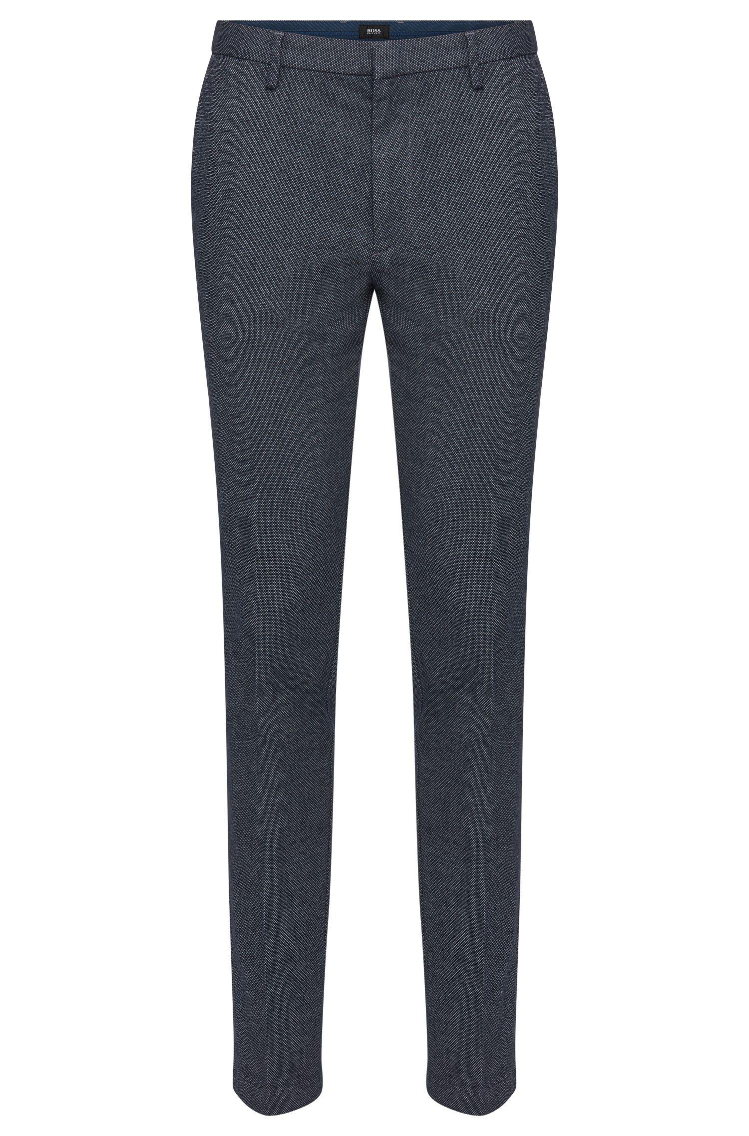 Pantalón slim fit con estampado elegante en mezcla de algodón elástico: 'Kaito3-W'
