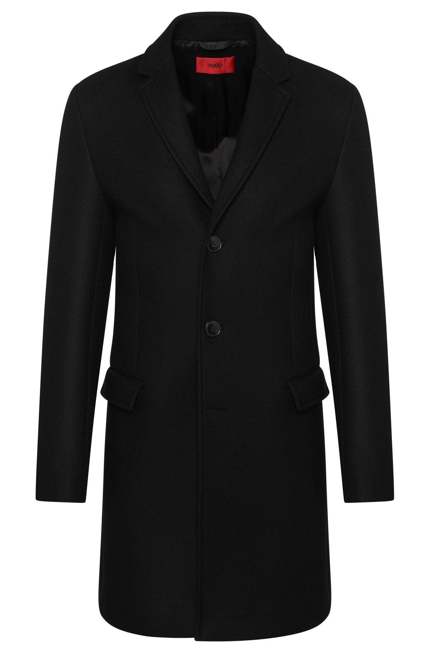 Manteau uni en laine vierge mélangée: «Migor3»