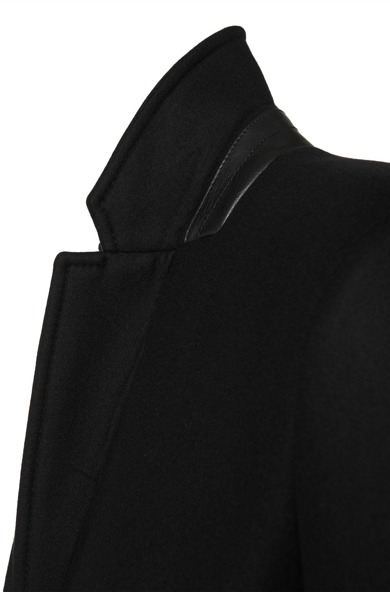 Unifarbener Mantel aus Schurwoll-Mix: 'Migor3'