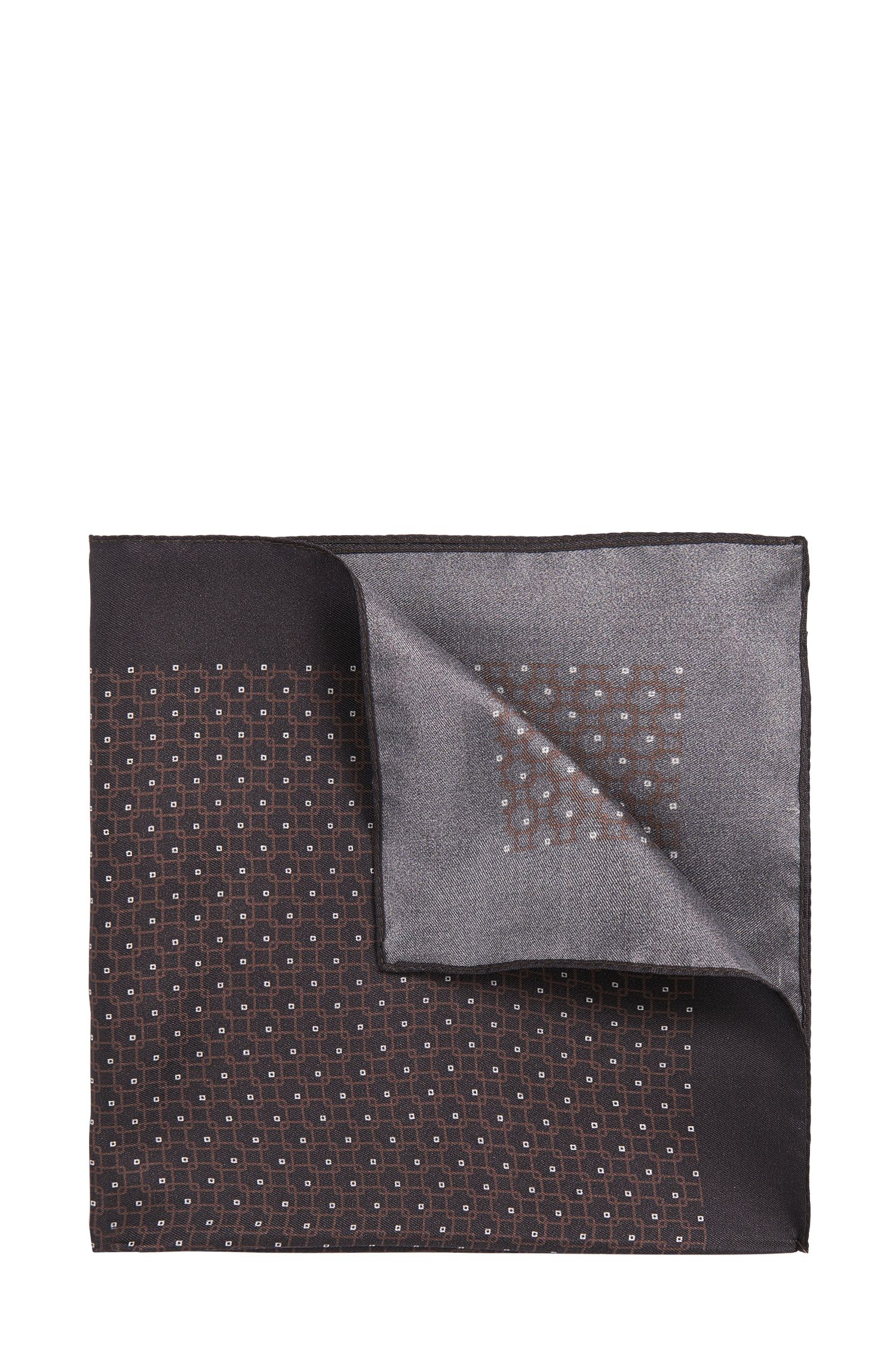Patterned pocket square in pure silk: 'Pocket sq. cm 33x33'