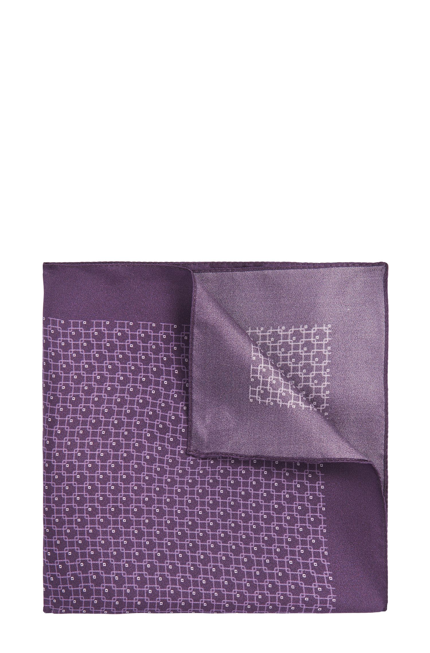 Pañuelo de bolsillo estampado de seda pura: 'Pocket sq. cm 33x33'