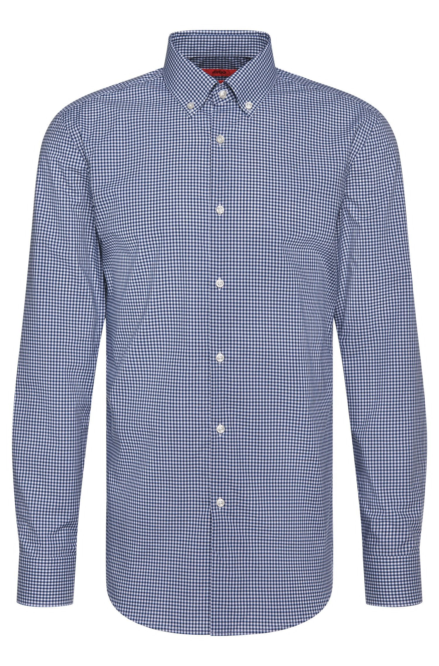 Checked slim-fit shirt in cotton: 'C-Jenns'