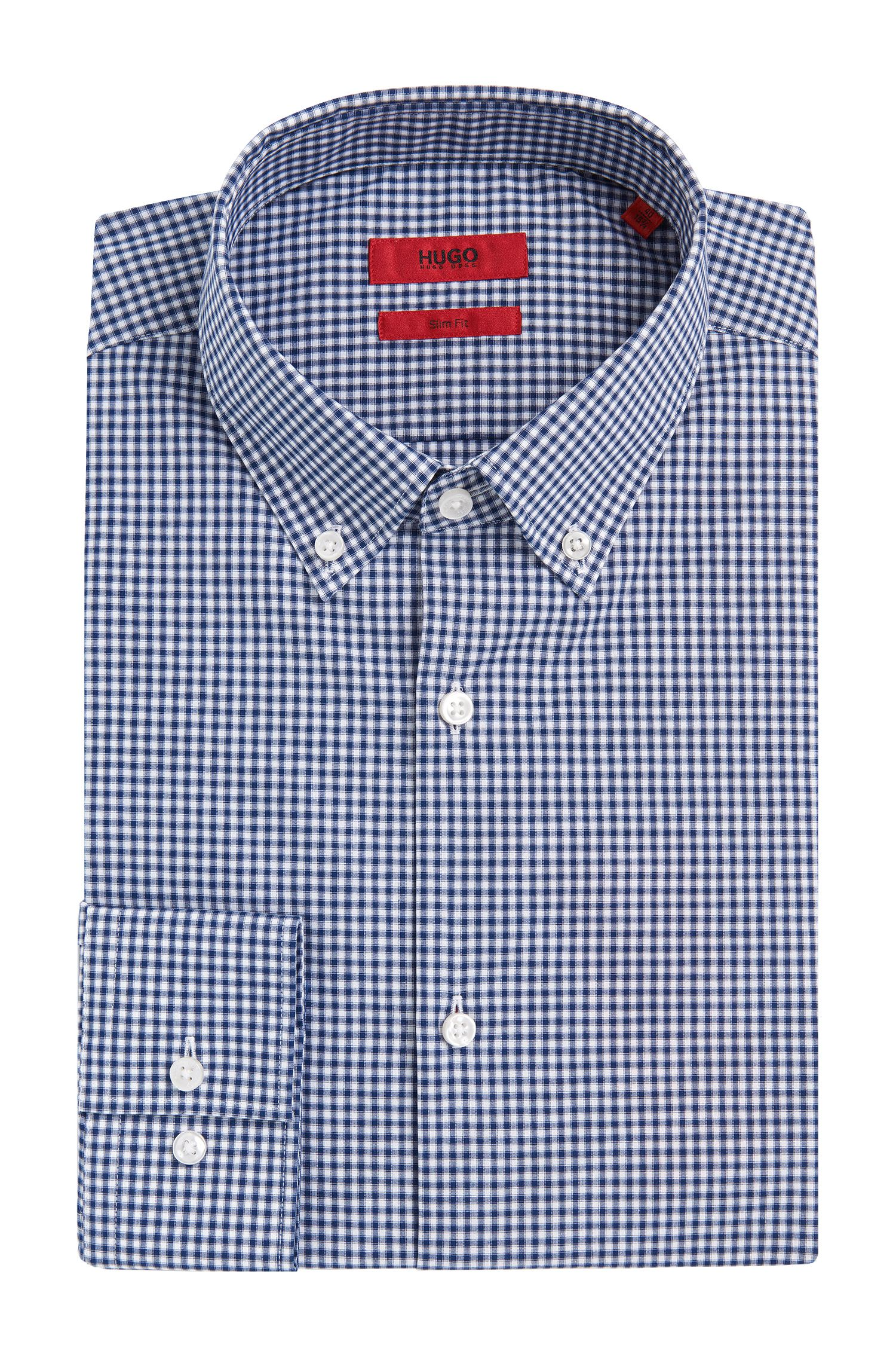 Kariertes Slim-Fit Hemd aus Baumwolle: 'C-Jenns'