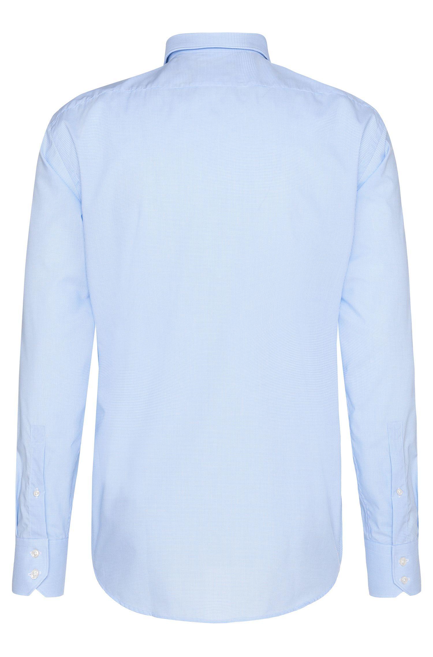 Fein kariertes Regular-Fit Hemd aus bügelleichter Baumwolle: 'C-Enzo'