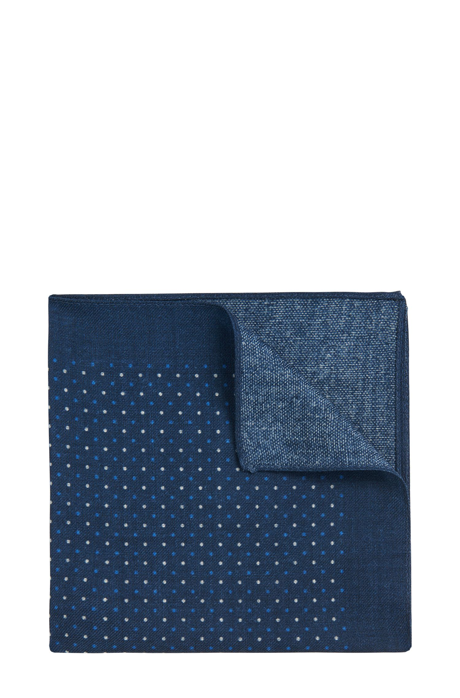 Polka dot pattern pocket square in pure wool: 'Pocket sq. cm 33x33'