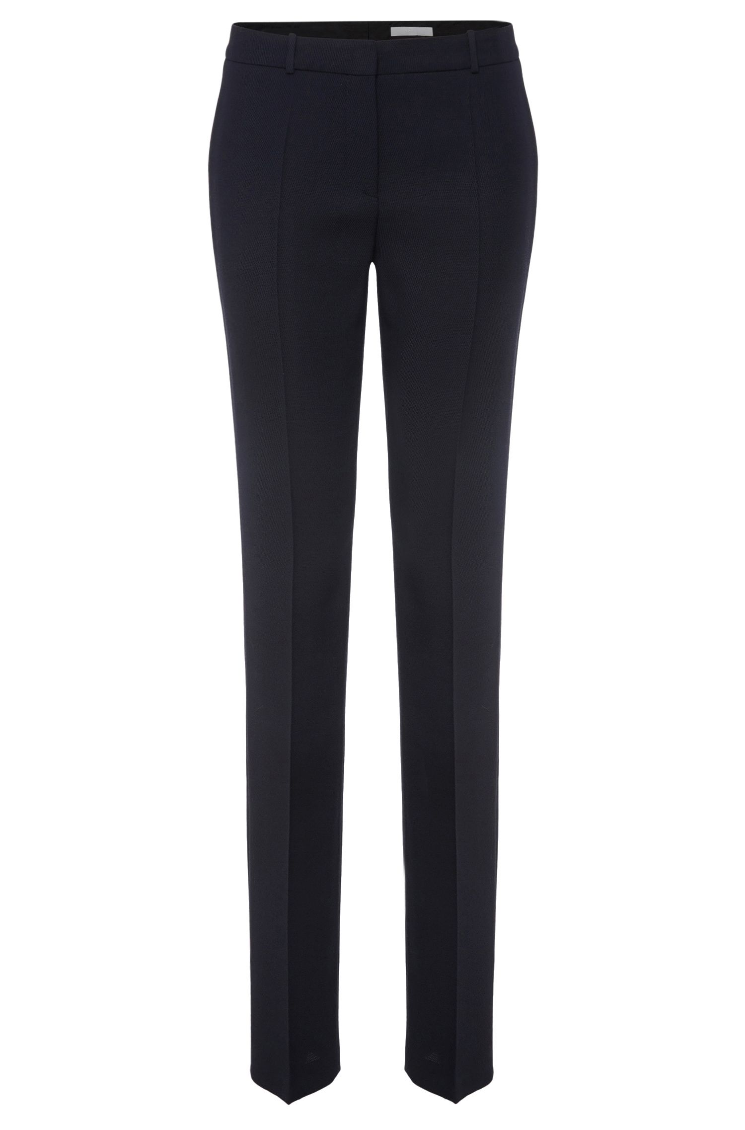 Standard-fit trousers in viscose blend with new wool: 'Tamea5'