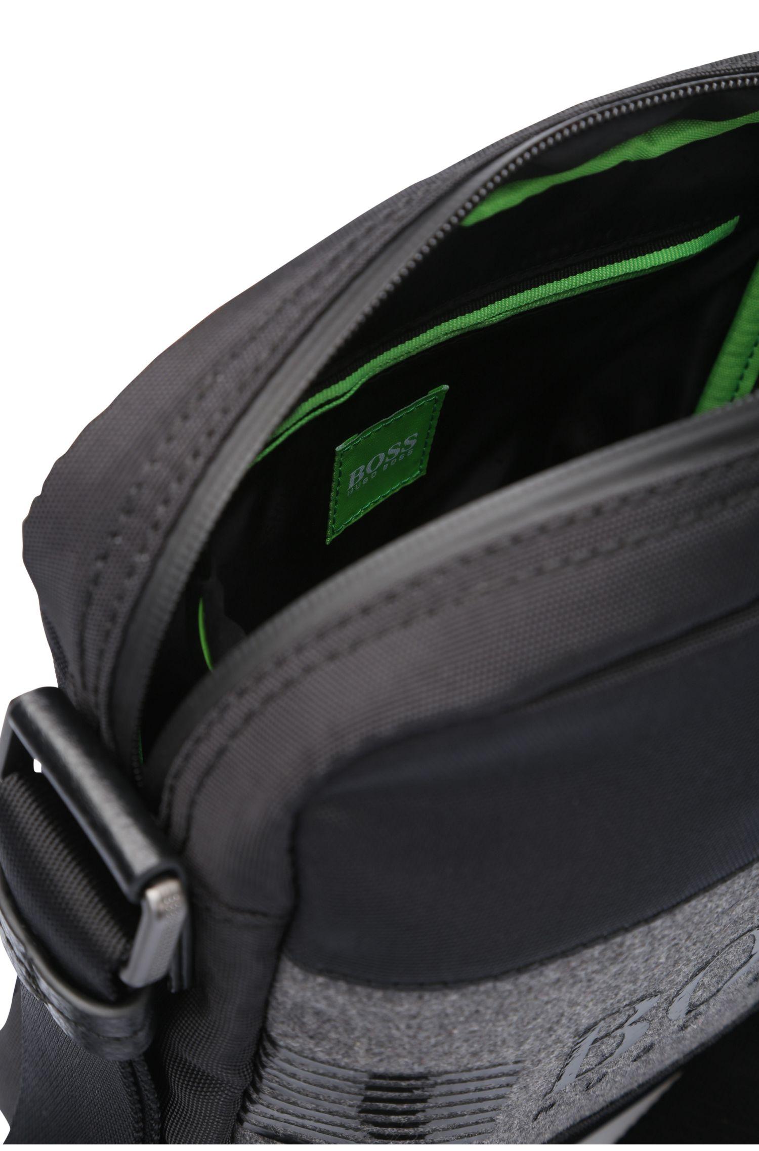 Umhängetasche aus strukturiertem Nylon und Filz im Pouch-Stil: ´Pixel F_S zip env`