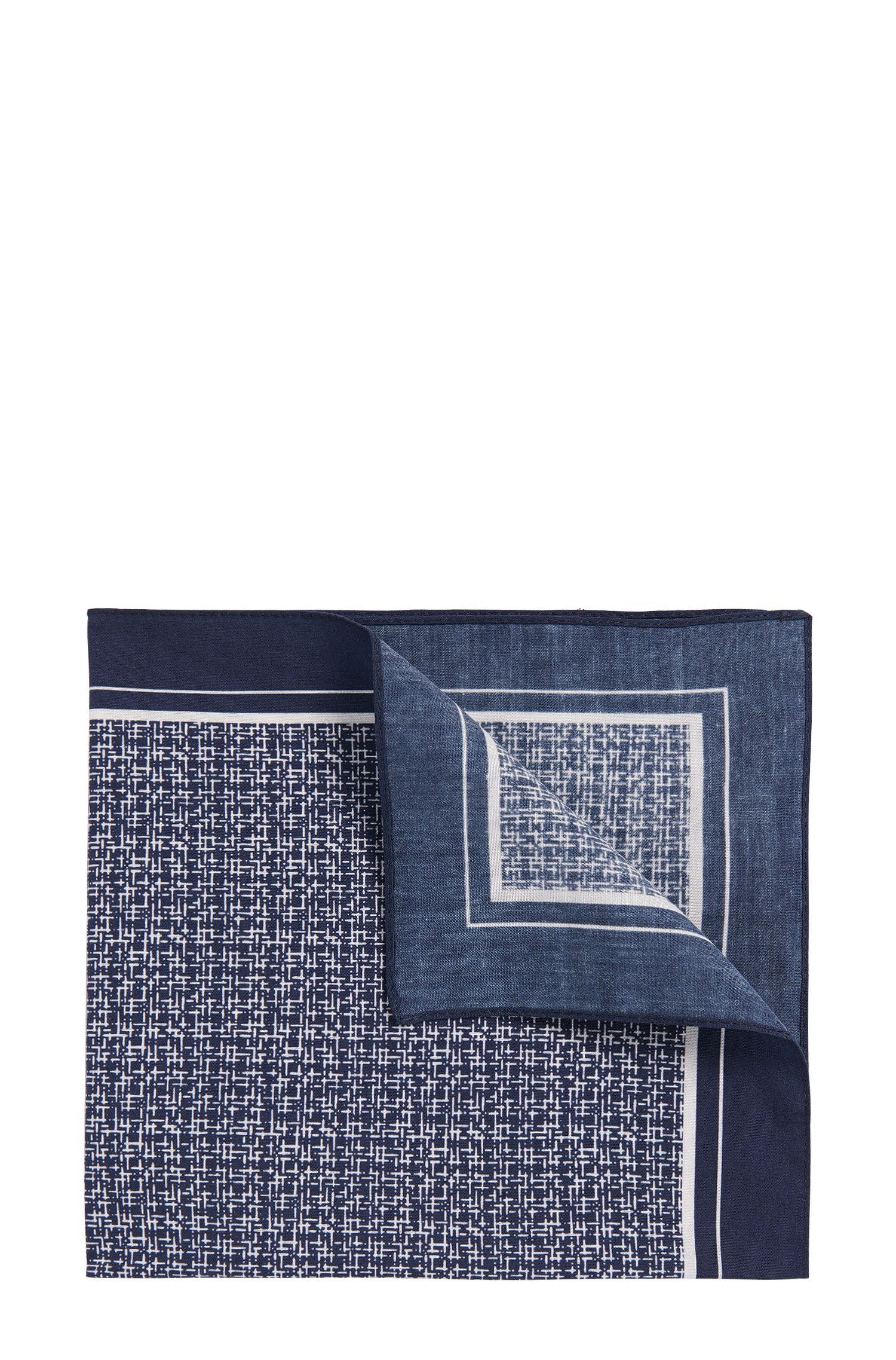 Patterned pocket square in cotton: 'Pocket sq. cm 33x33'