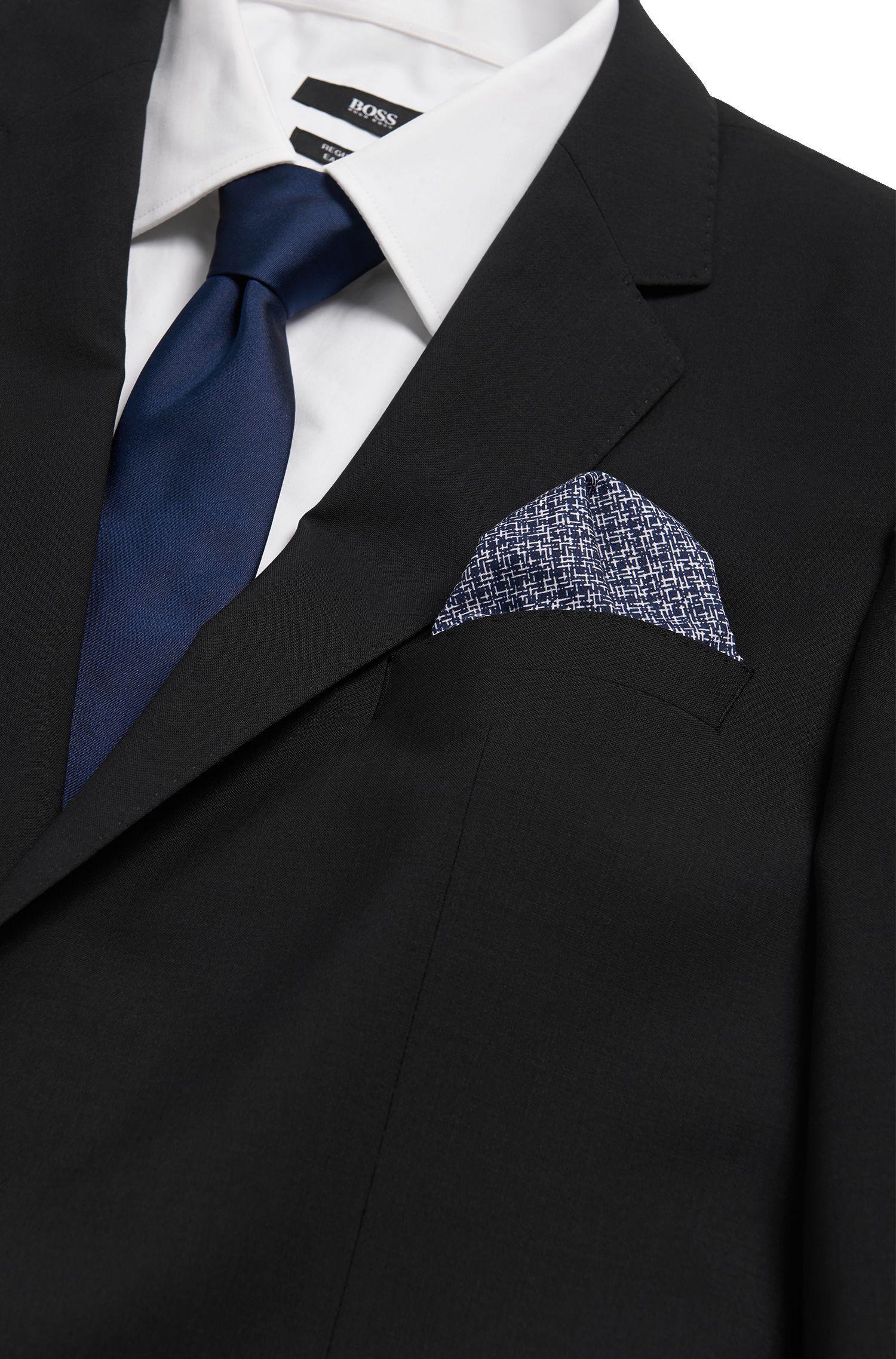 Gemustertes Einstecktuch aus Baumwolle: 'Pocket sq. cm 33x33'