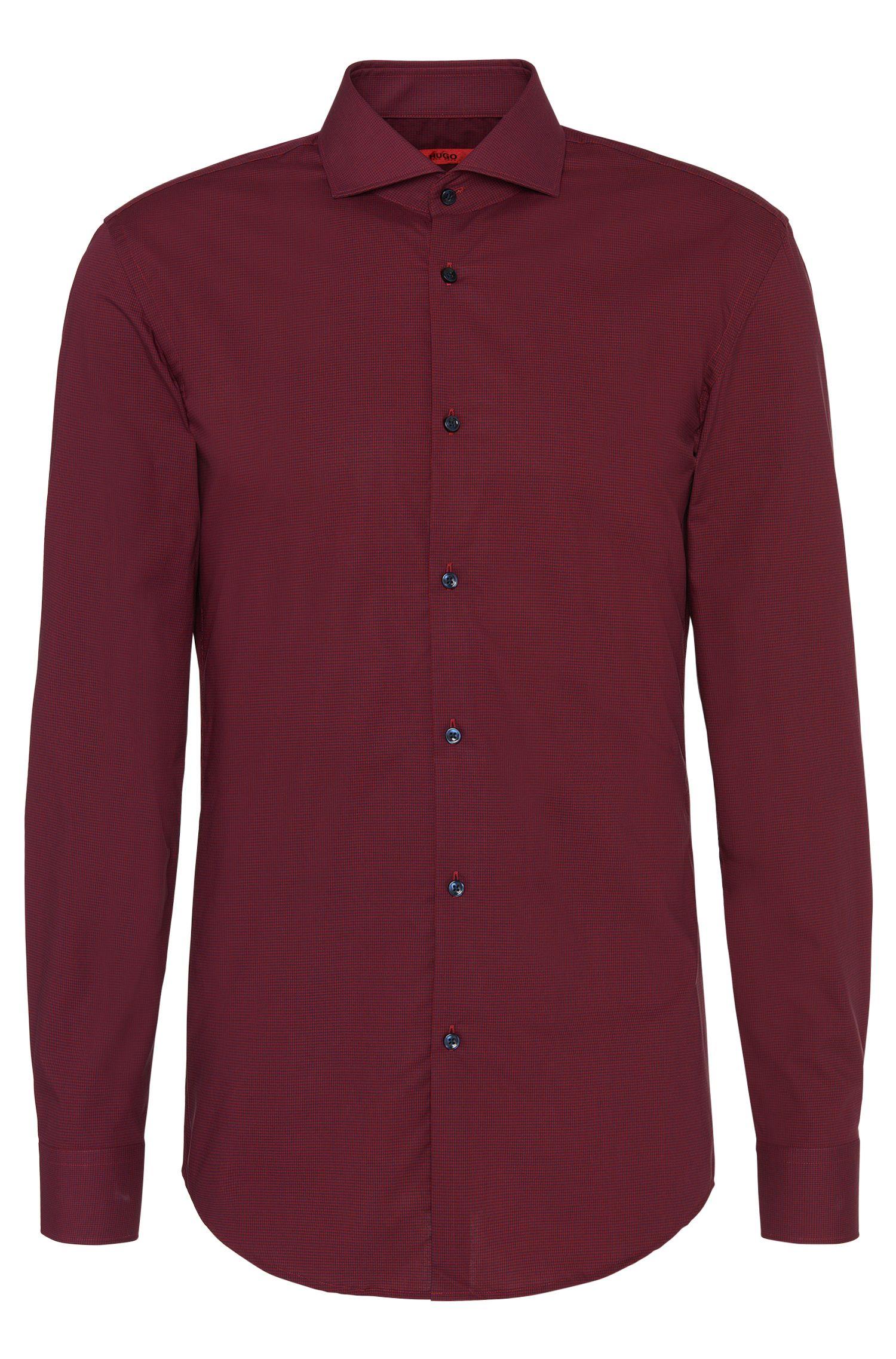 Geruit slim-fit overhemd van gemakkelijk te strijken katoen: 'C-Jason'