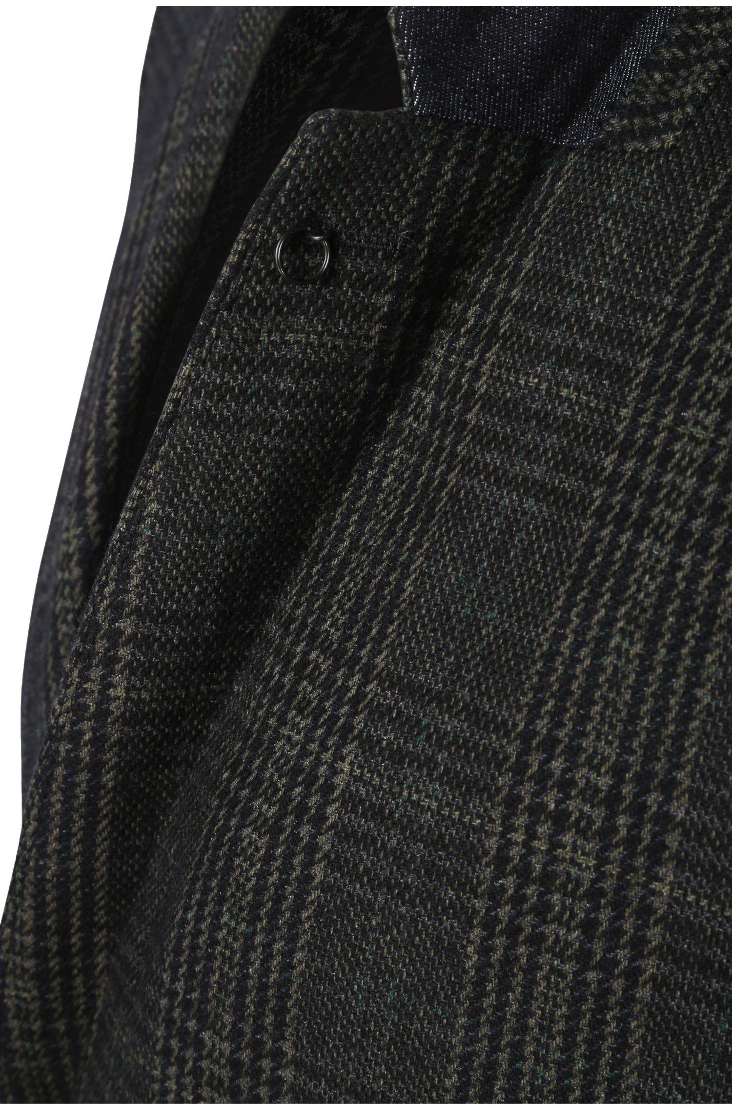 Veste de costume Slim Fit à carreaux en mélange de matières avec de la laine: «Baxon»