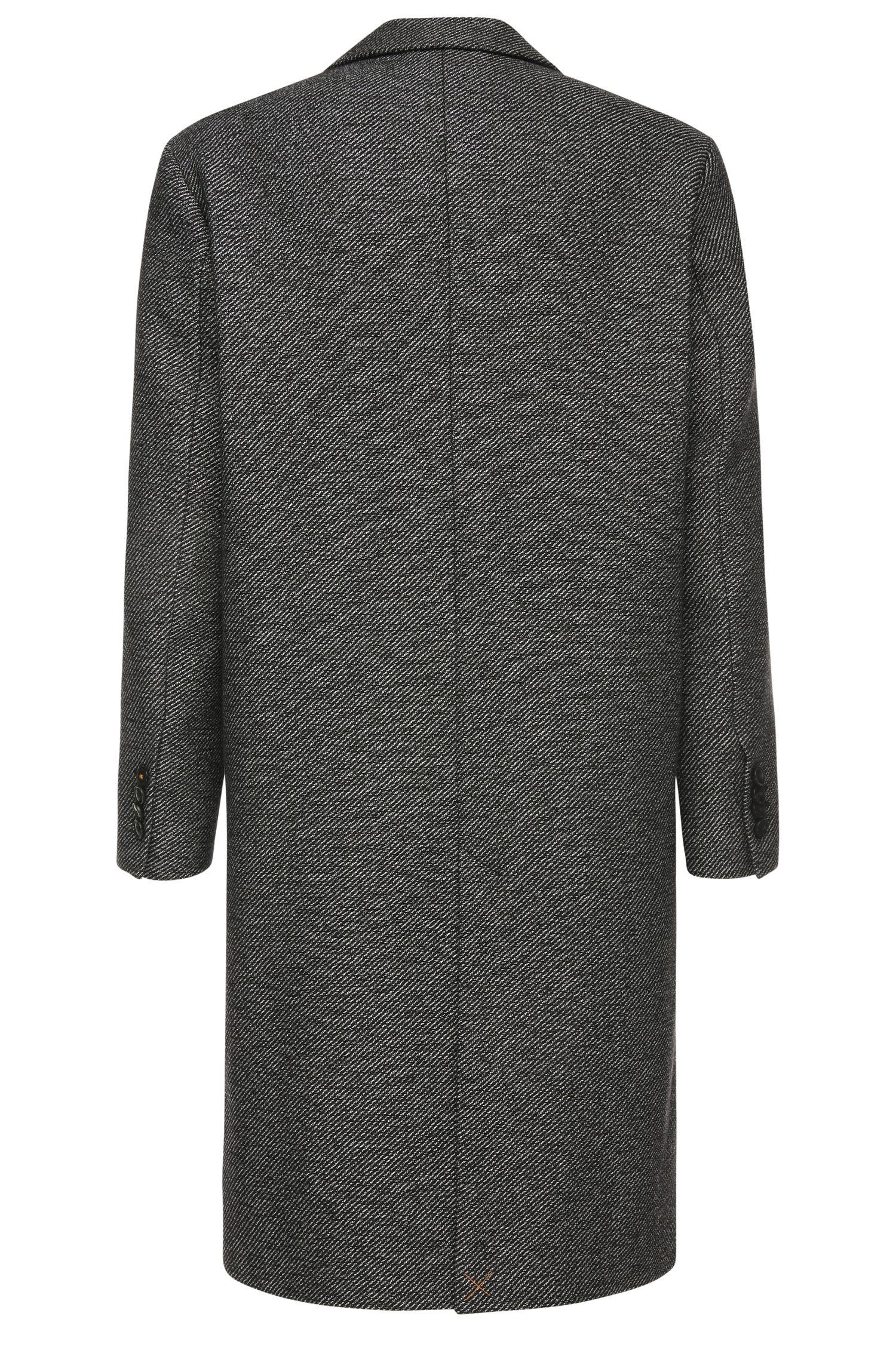 Mantel aus texturiertem Material-Mix mit Baumwolle: ´Bear`