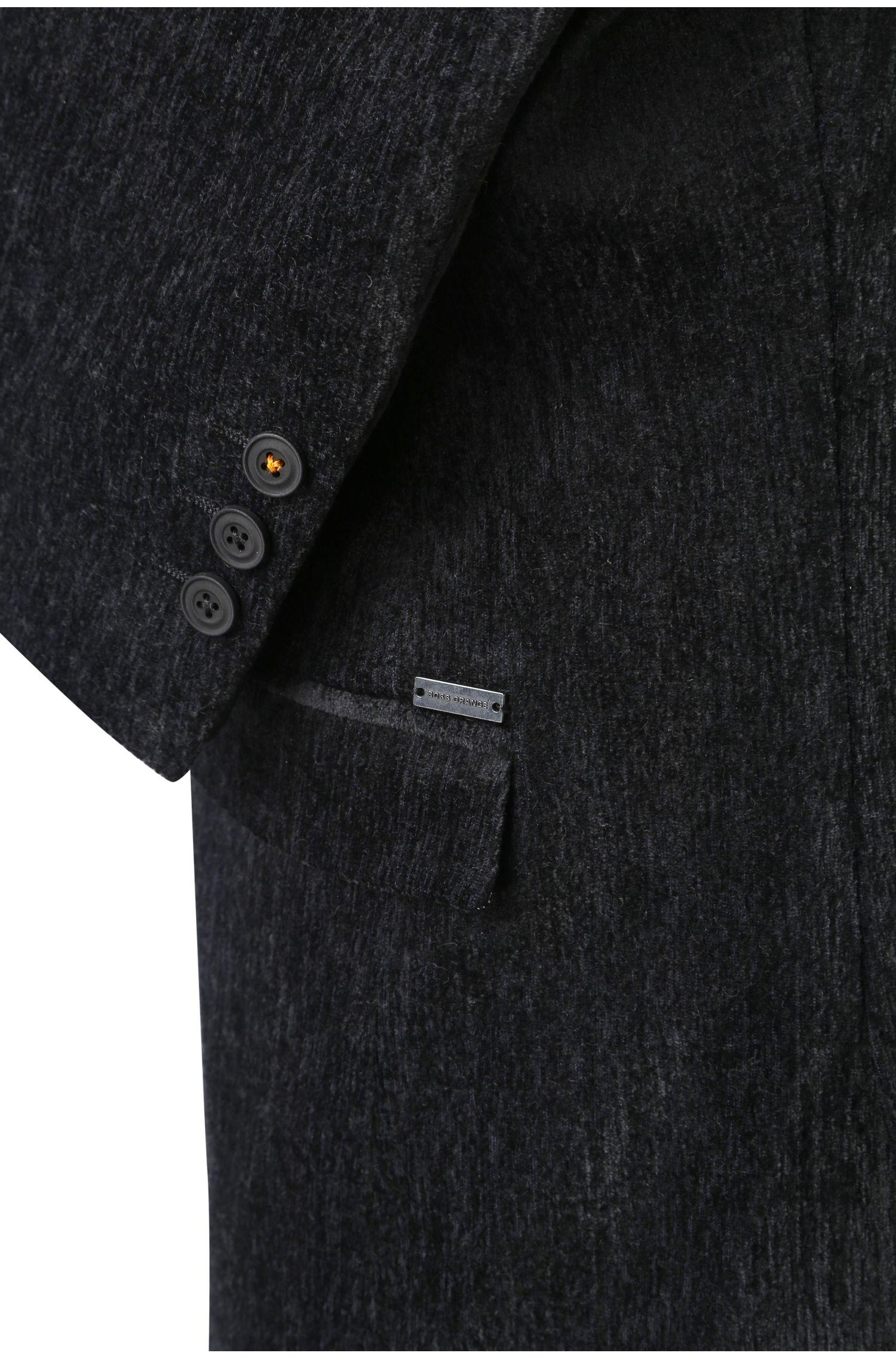 Slim-fit colbert van een gestructureerde materiaalmix: 'Bistock'