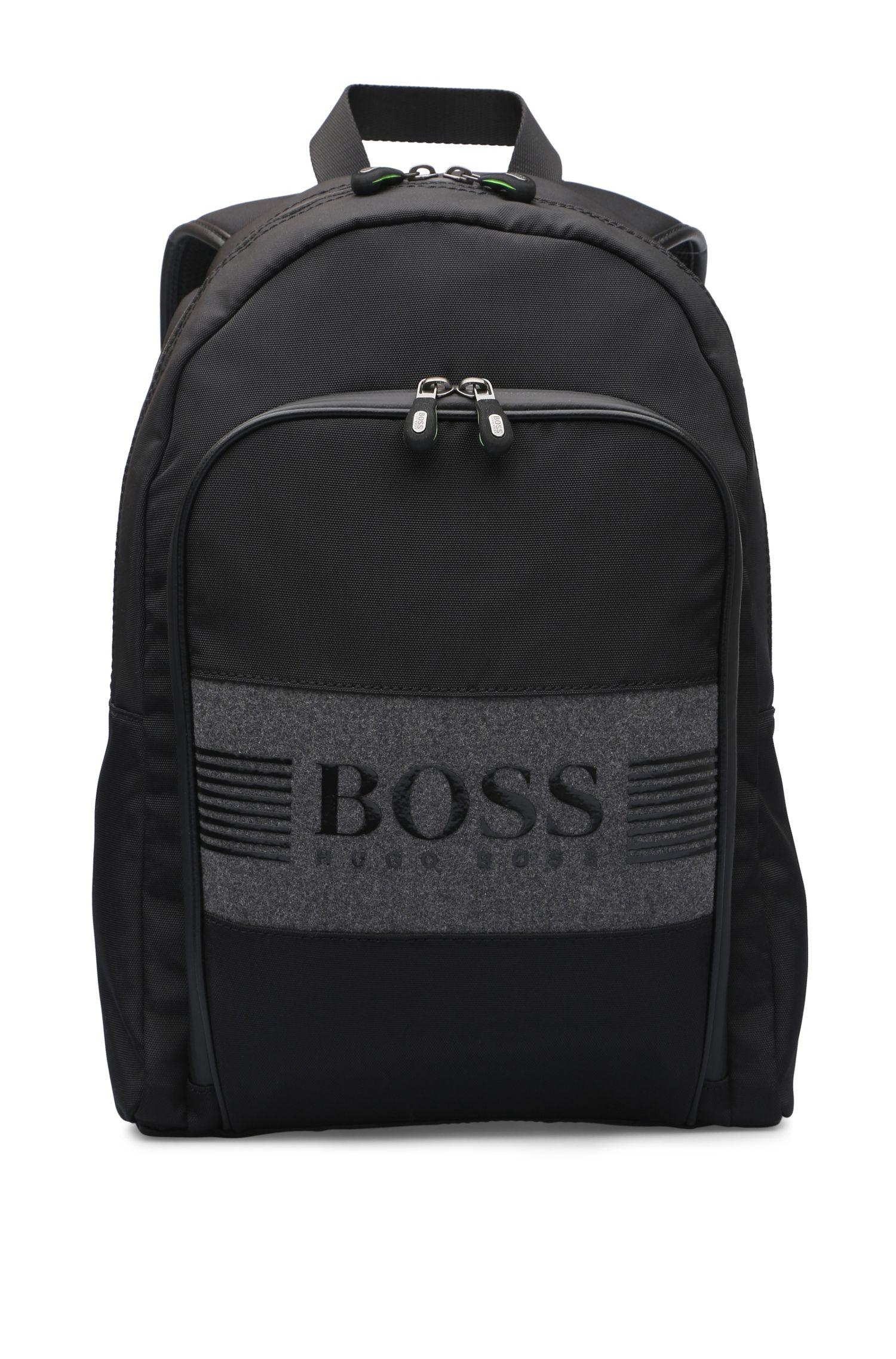 Rucksack aus strukturiertem Nylon und Filz: ´Pixel F_Backpack`