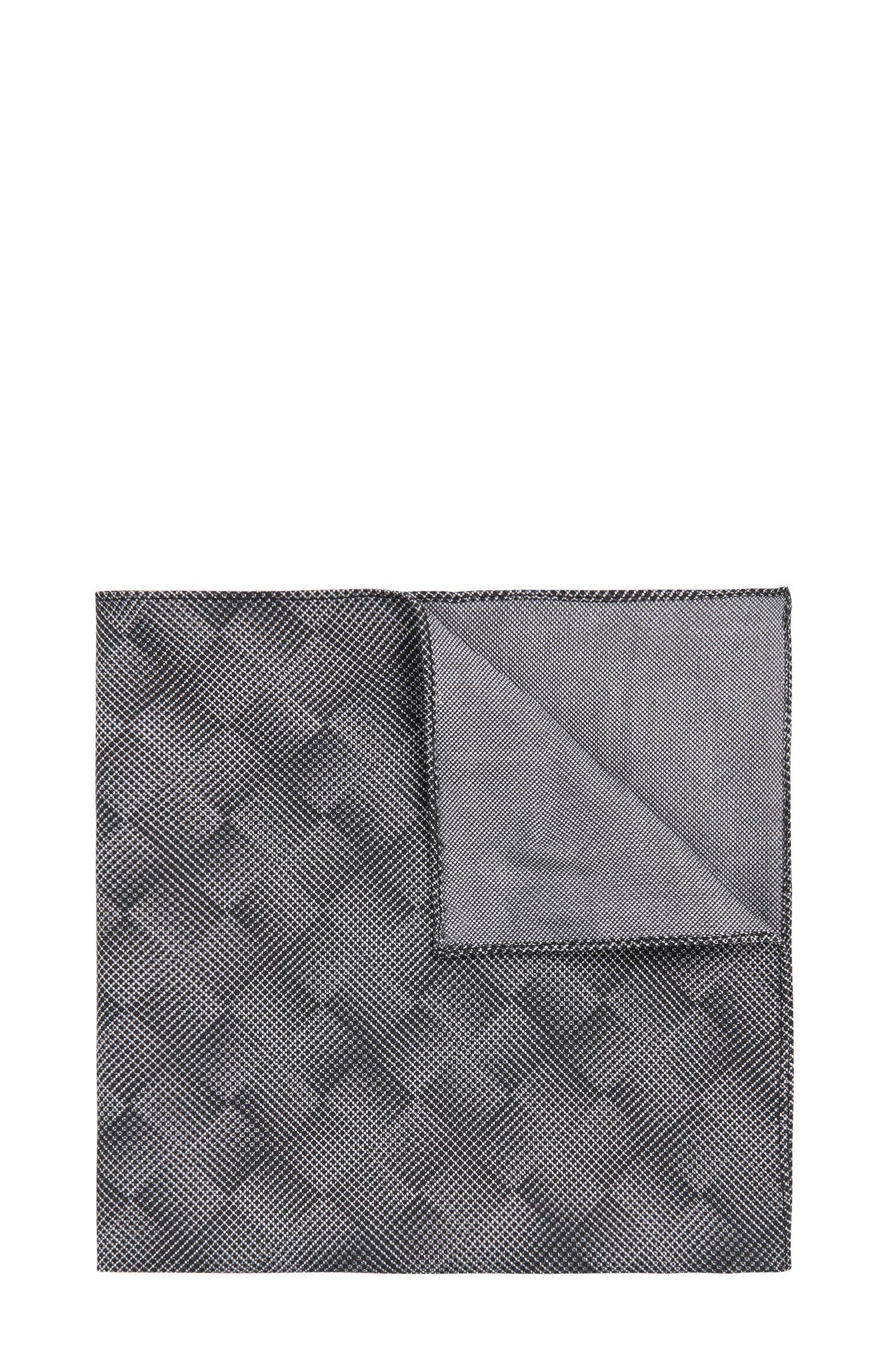 Einstecktuch aus Baumwolle mit grafischem Muster: 'Pocket sq. cm 33x33'