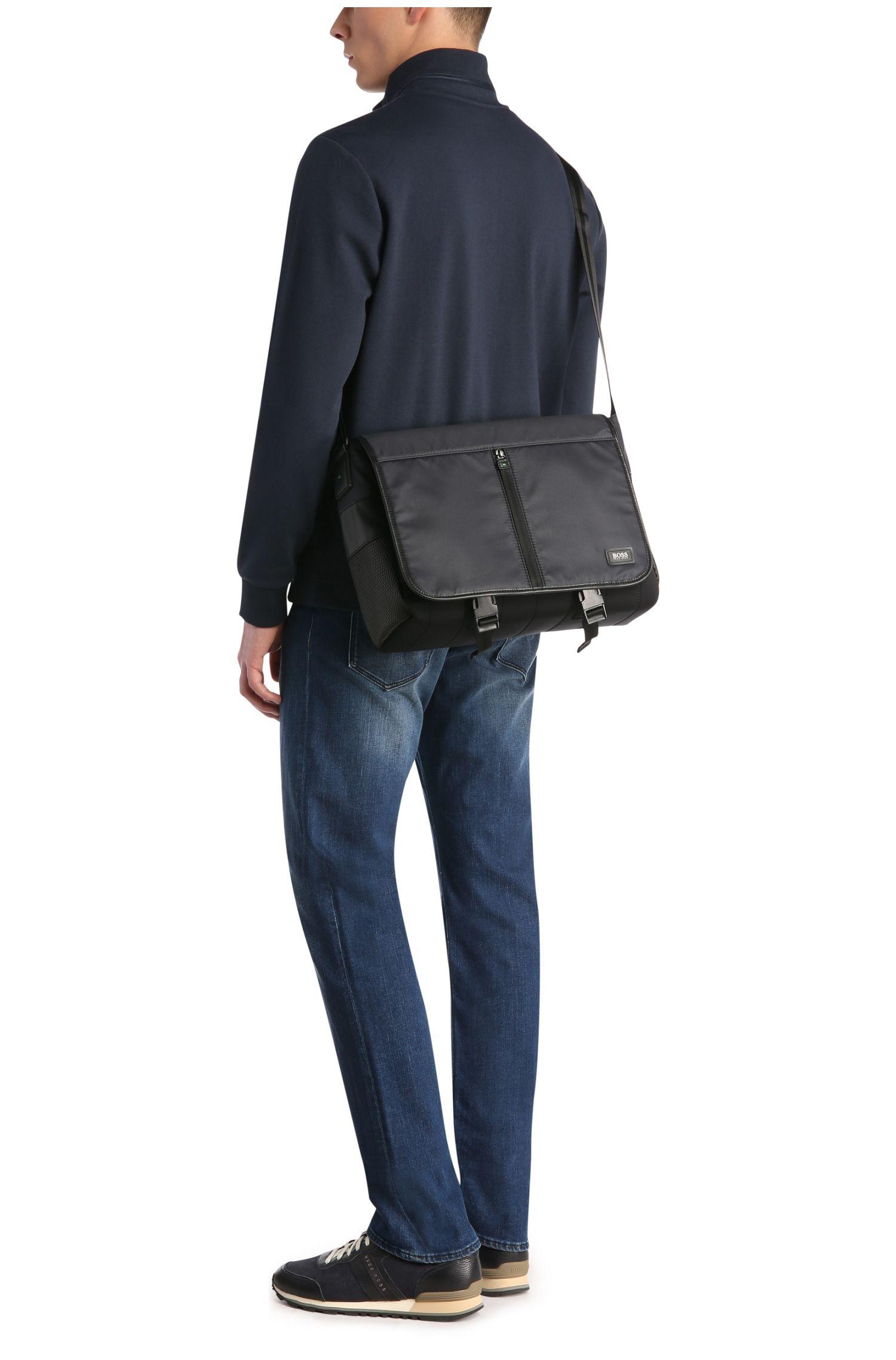 Messenger-Tasche aus Nylon: ´Mission_Mess flap`