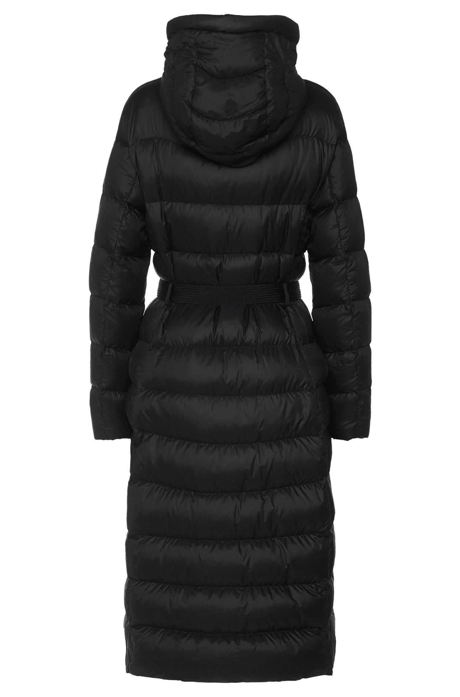 Manteau doudoune long avec ceinture à nouer: «Poglia»
