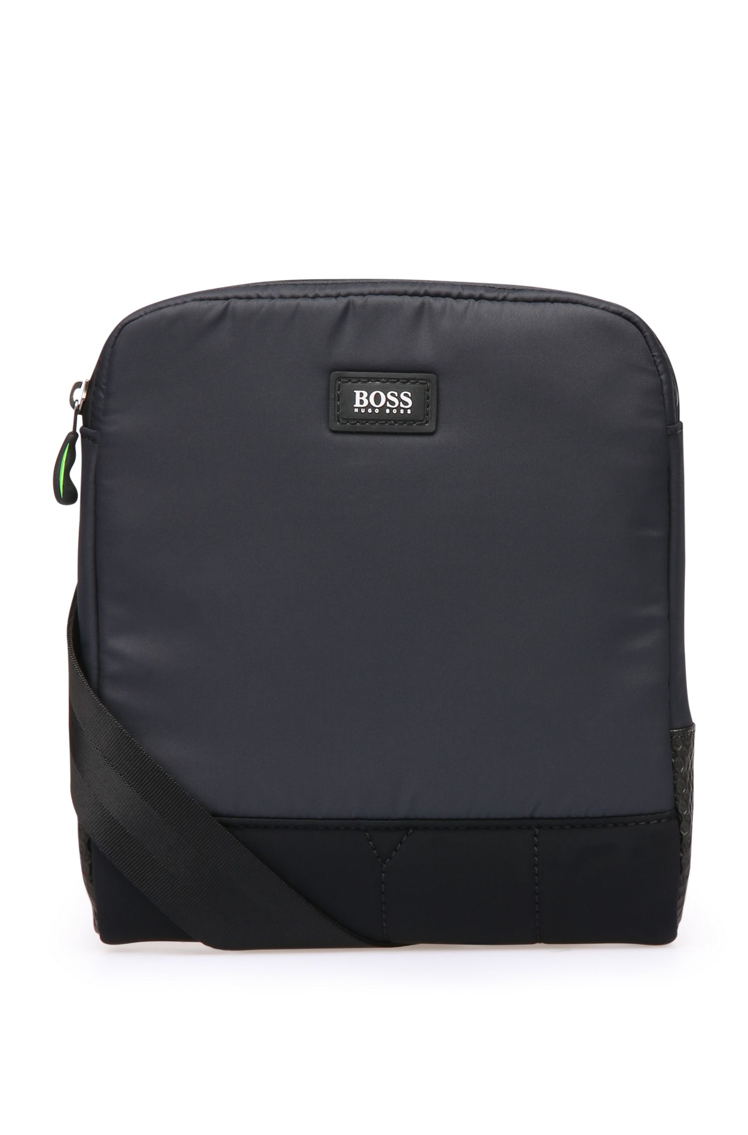Shoulder bag in waxed nylon: 'Mission_S zip env'