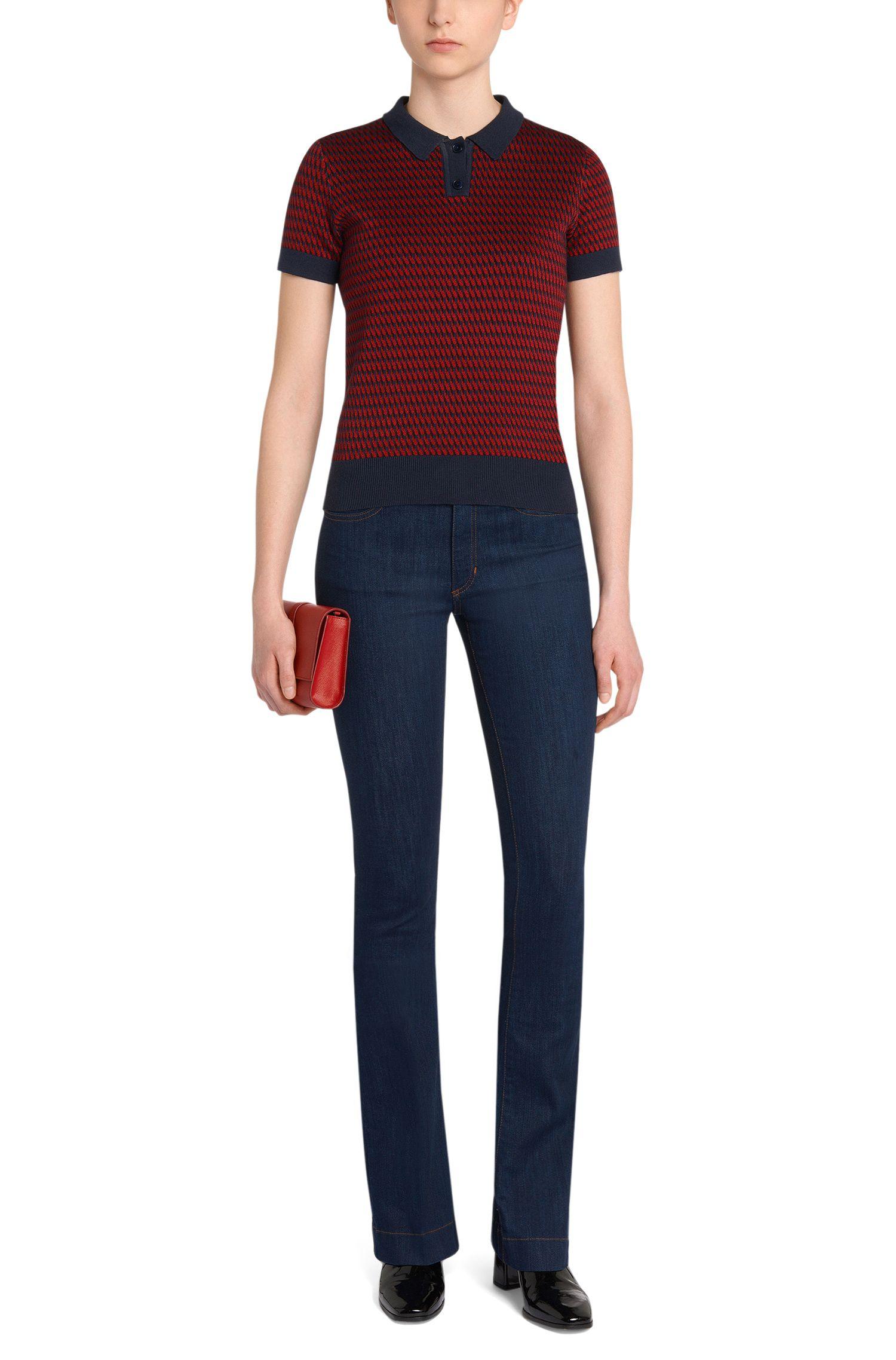 Slim-Fit Bootcut Jeans aus Stretch-Bauwmolle: 'Ginas'