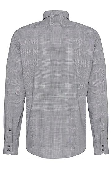 Kariertes Regular-Fit Hemd aus bügelleichter Baumwolle: 'C-Gordon', Schwarz