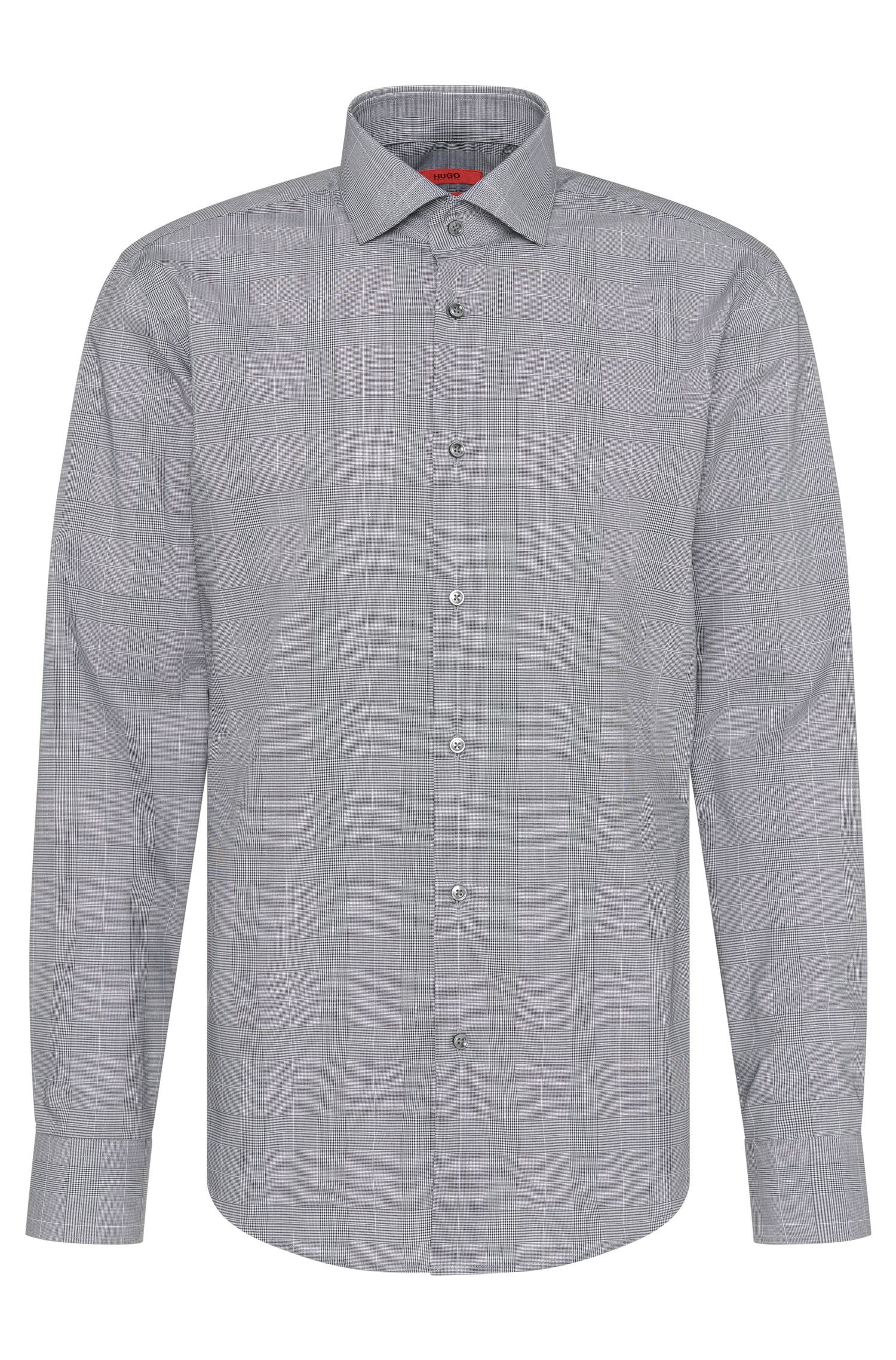 Camicia regular fit a quadretti in cotone stiro facile: 'C-Gordon'