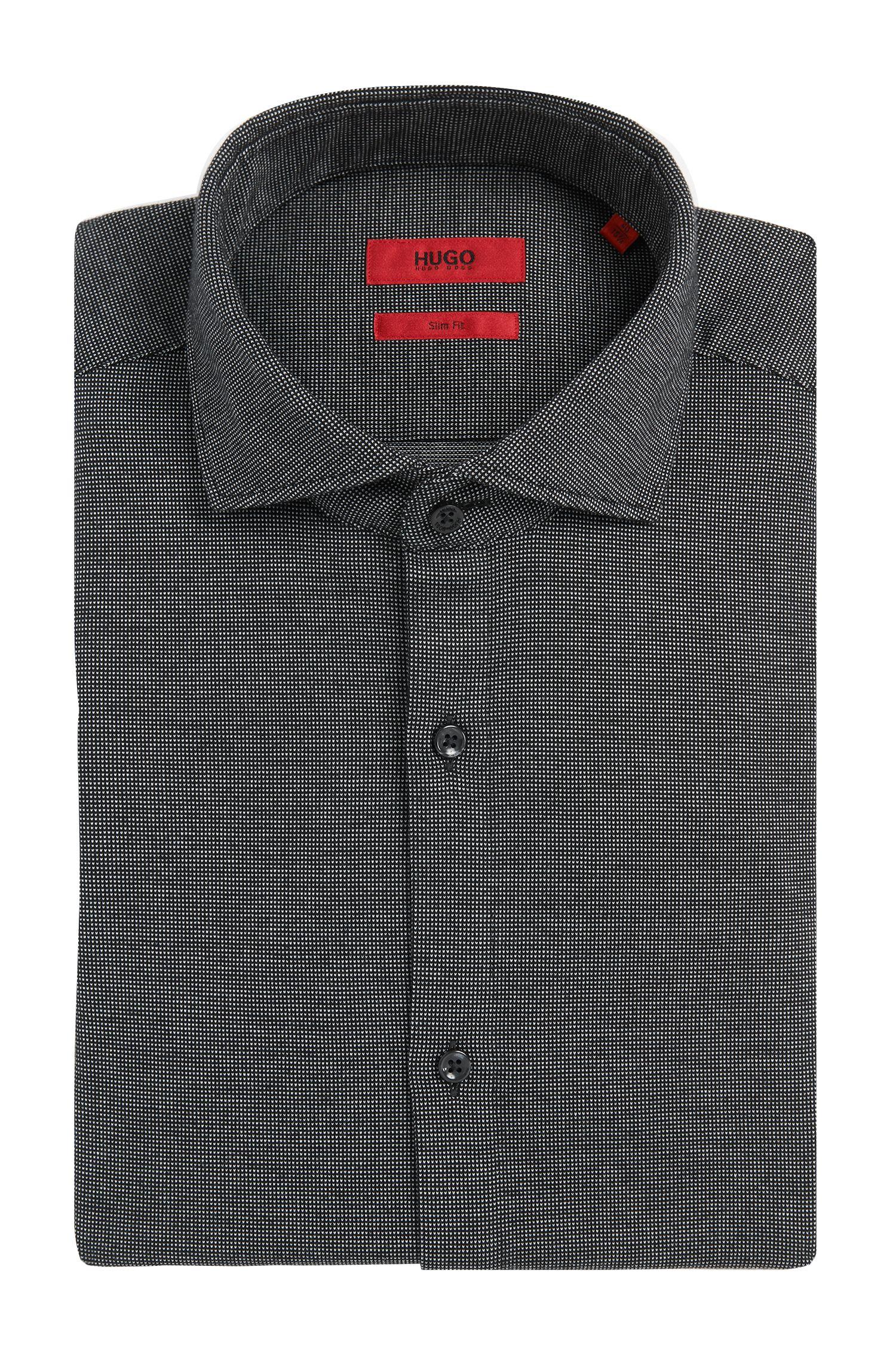 Chemise Slim Fit en coton à motif fin: «C-Jason»
