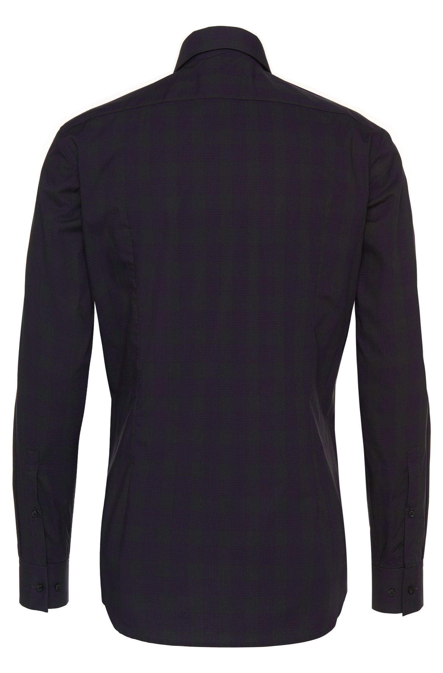 Kariertes Slim-Fit Hemd aus bügelleichter Baumwolle: 'C-Jero'