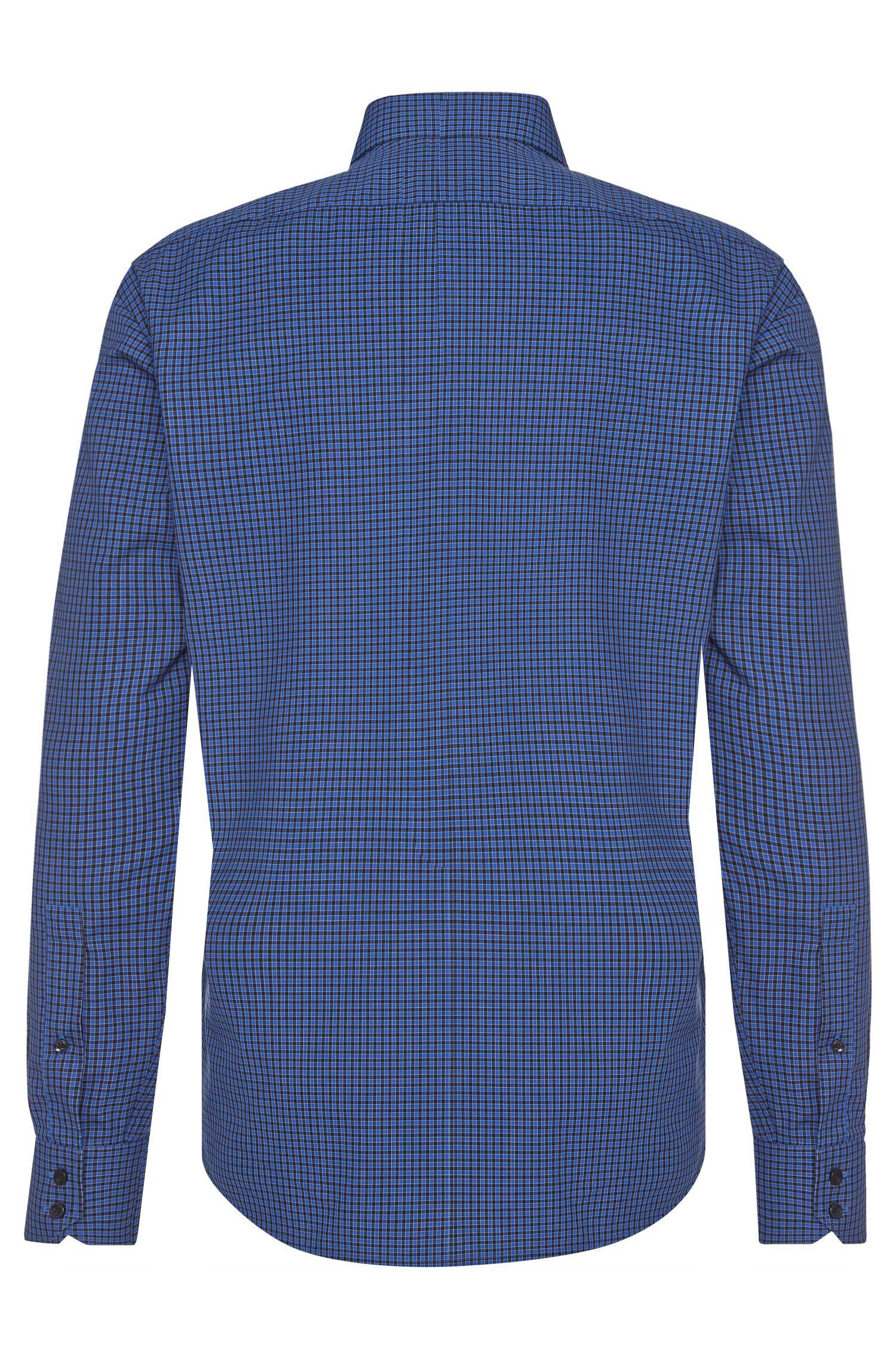 Kariertes Regular-Fit Hemd aus bügelleichter Baumwolle: 'C-Gordon'