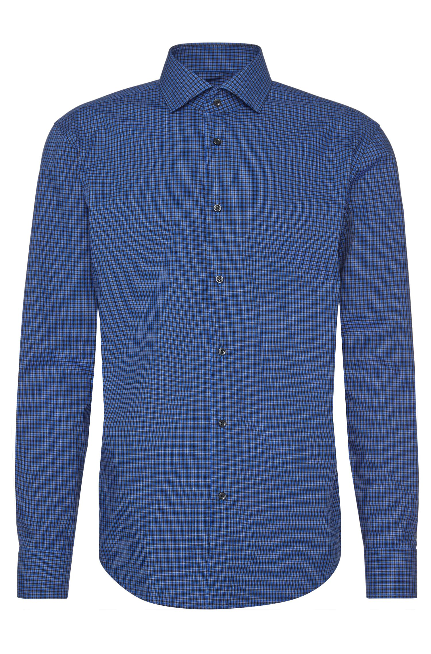 Checked regular-fit shirt in easy-iron cotton: 'C-Gordon'