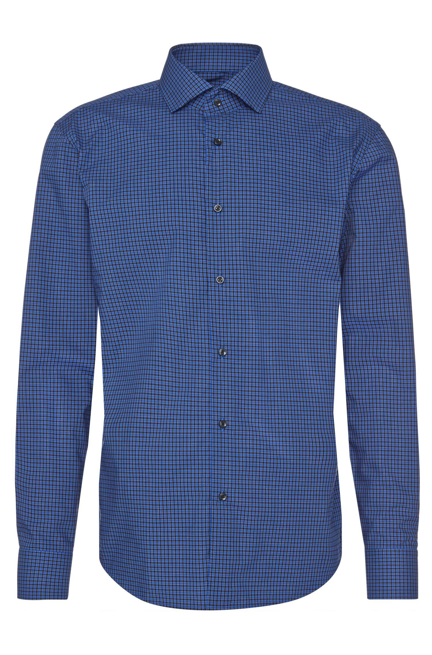 Camicia regular fit a quadretti in cotone stiro facile: 'C-Gordon'