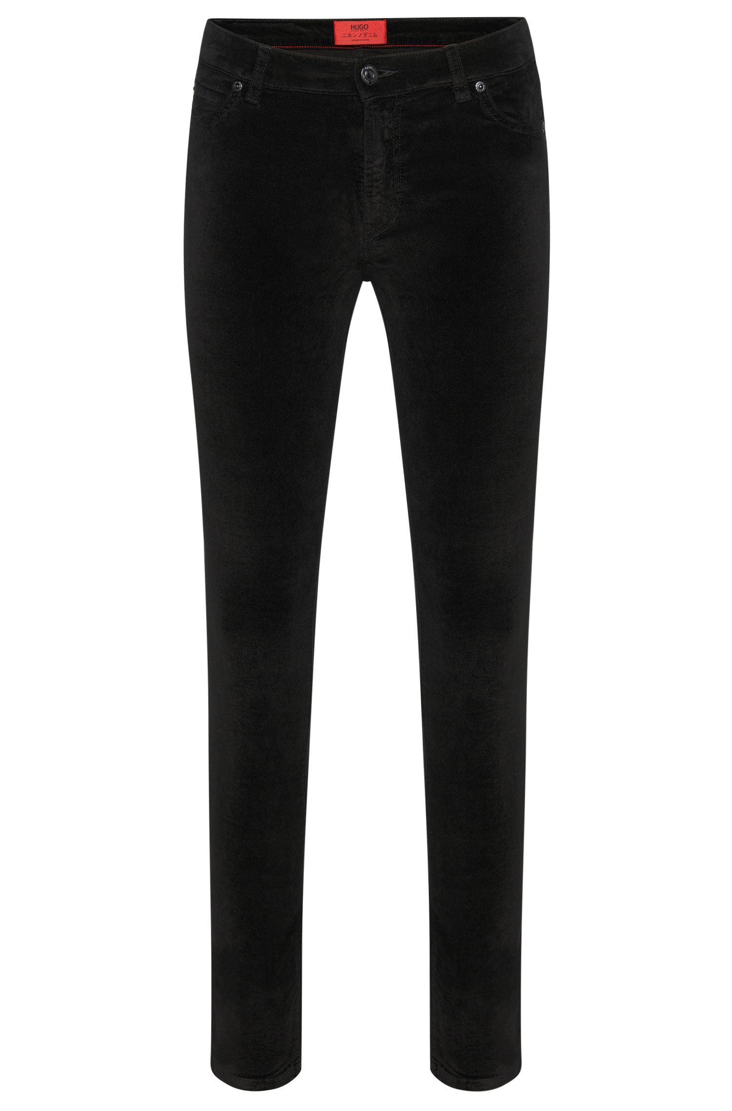 Super skinny-fit trousers in cotton blend with modal: 'Georgina'