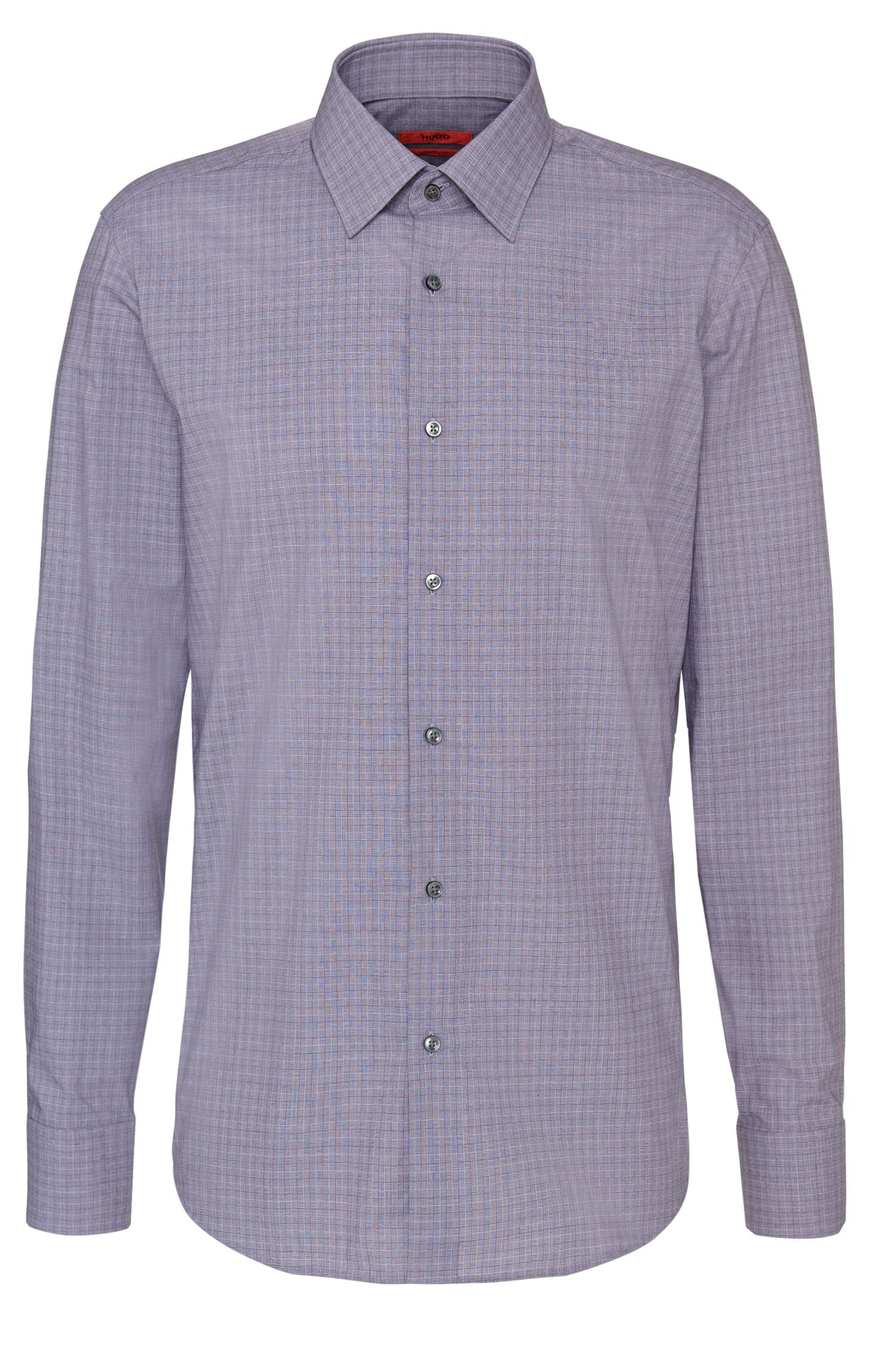 Checked regular-fit shirt in easy-iron cotton: 'C-Enzo'
