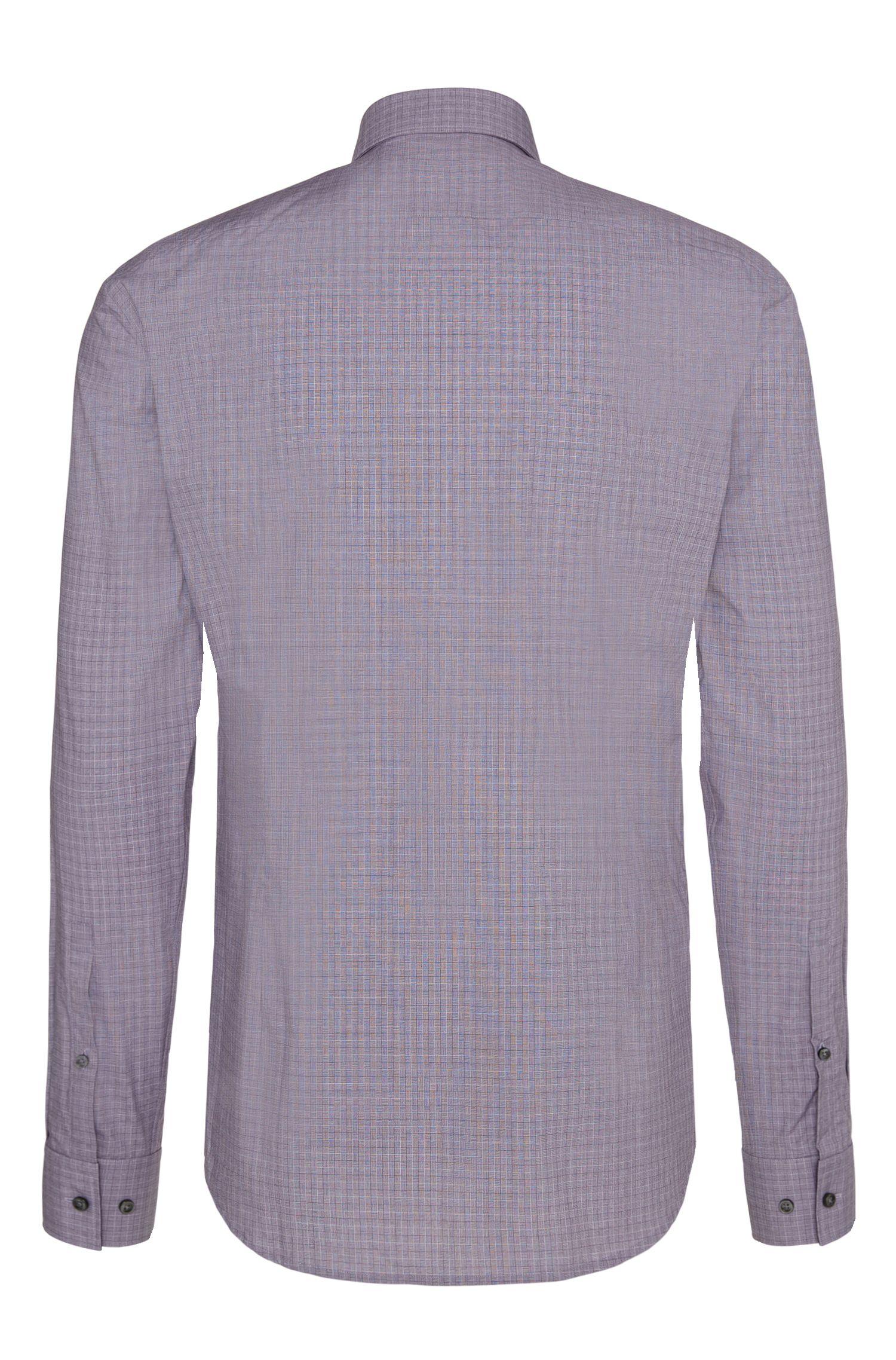 Gemustertes Slim-Fit-Hemd aus Baumwolle: 'C-Joey'