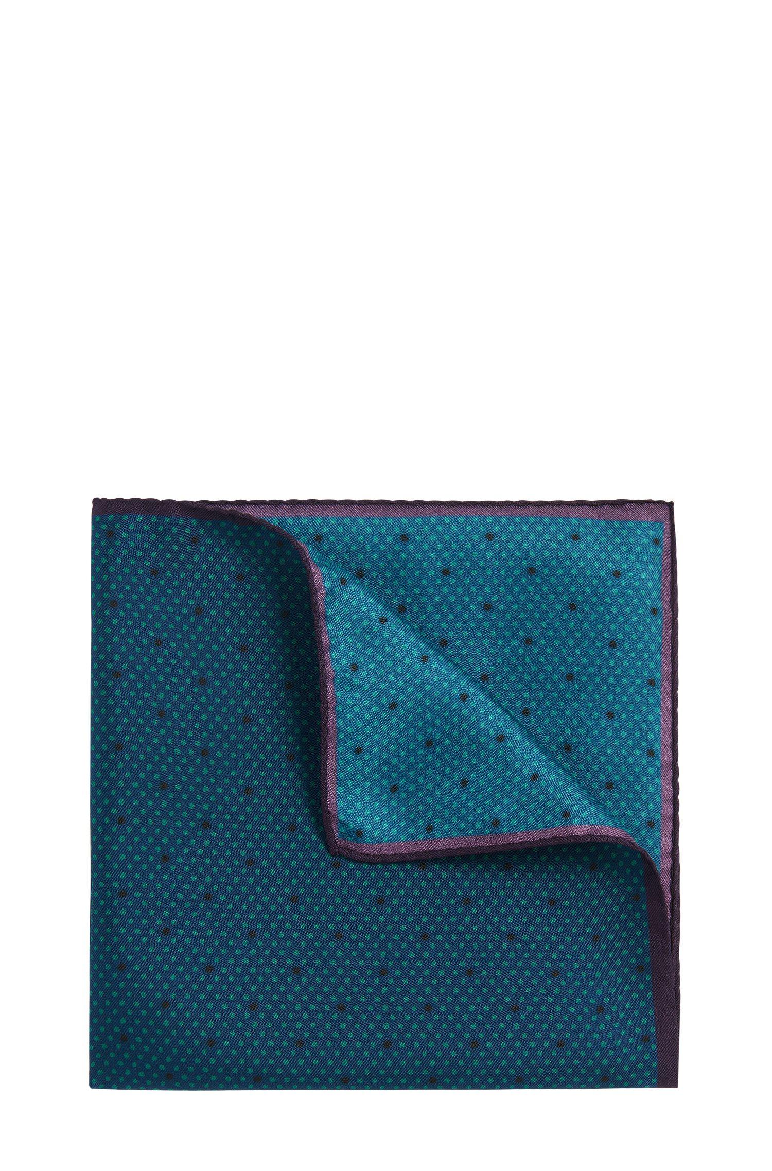 Pochet van zijde met dessin: 'Pocketsquare 33x33 cm'