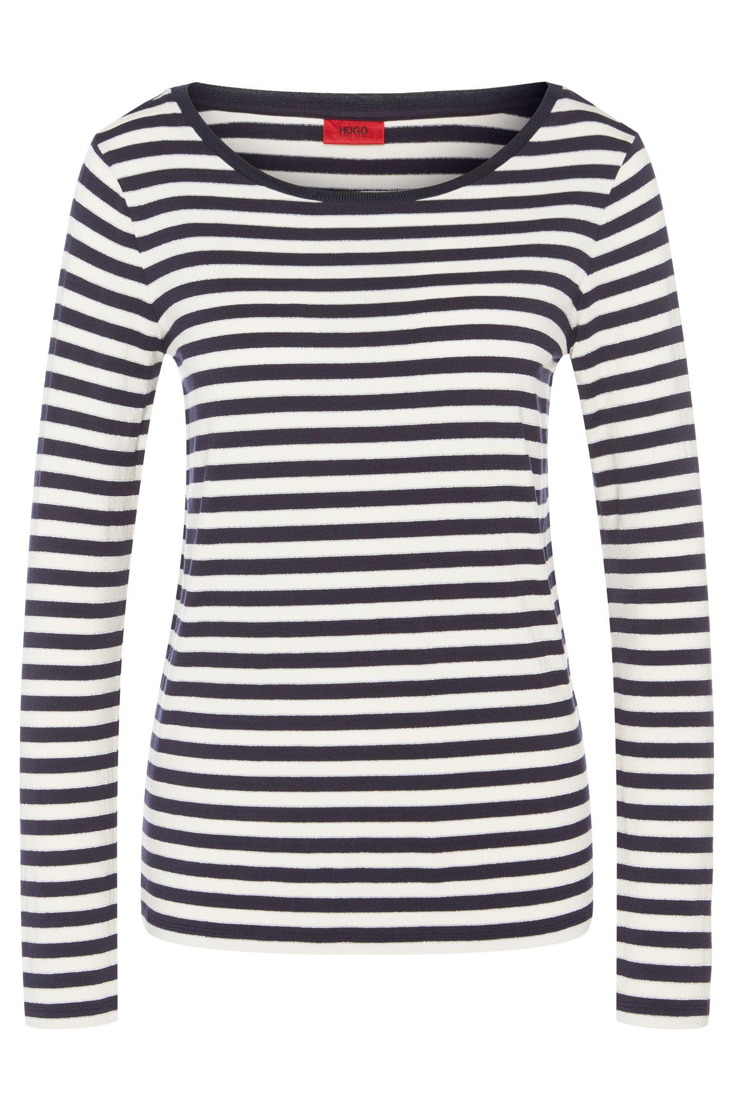 Gestreept shirt met lange mouwen van een viscosemix: 'Navina'